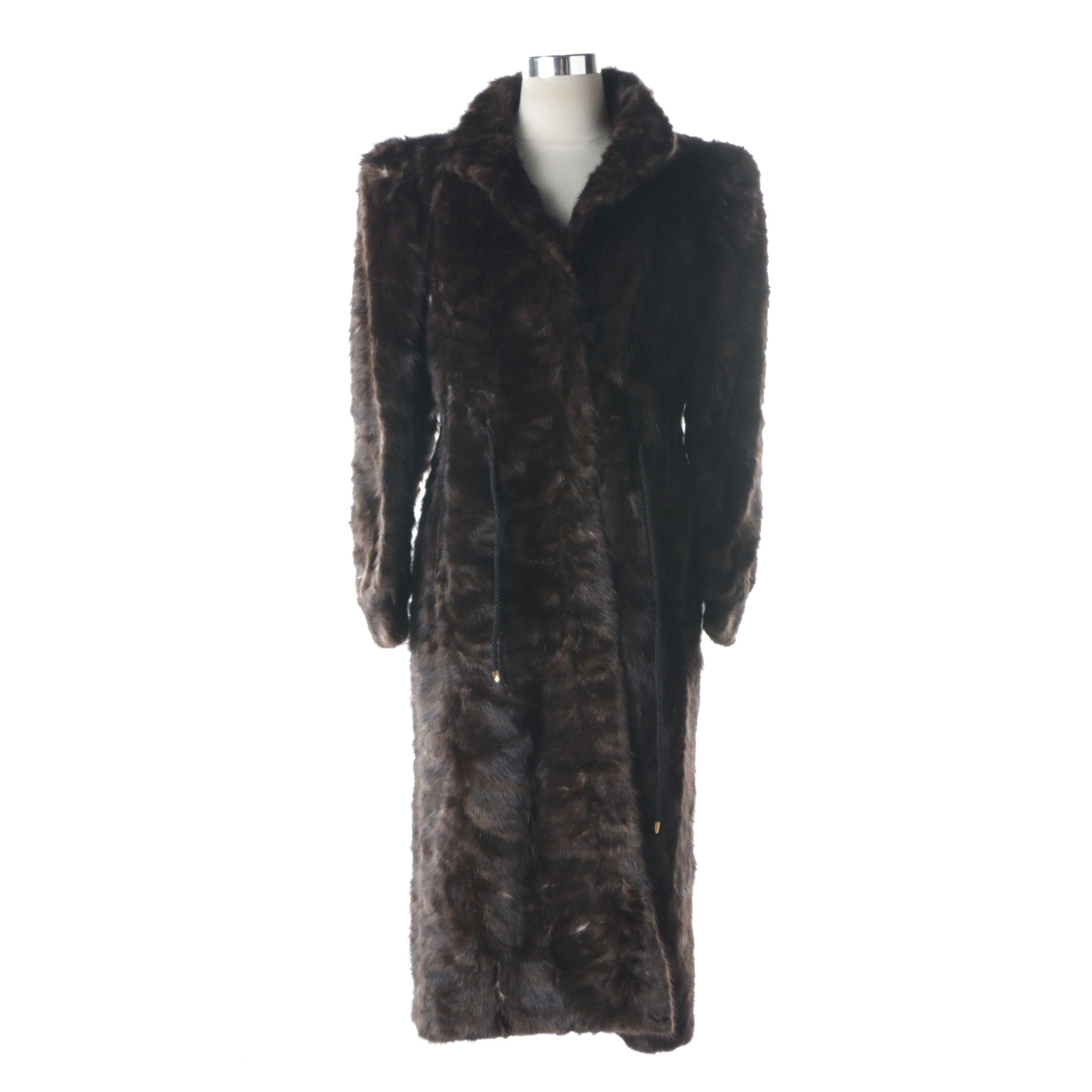 Vintage Hallmark Furs Mink Paw Fur Coat