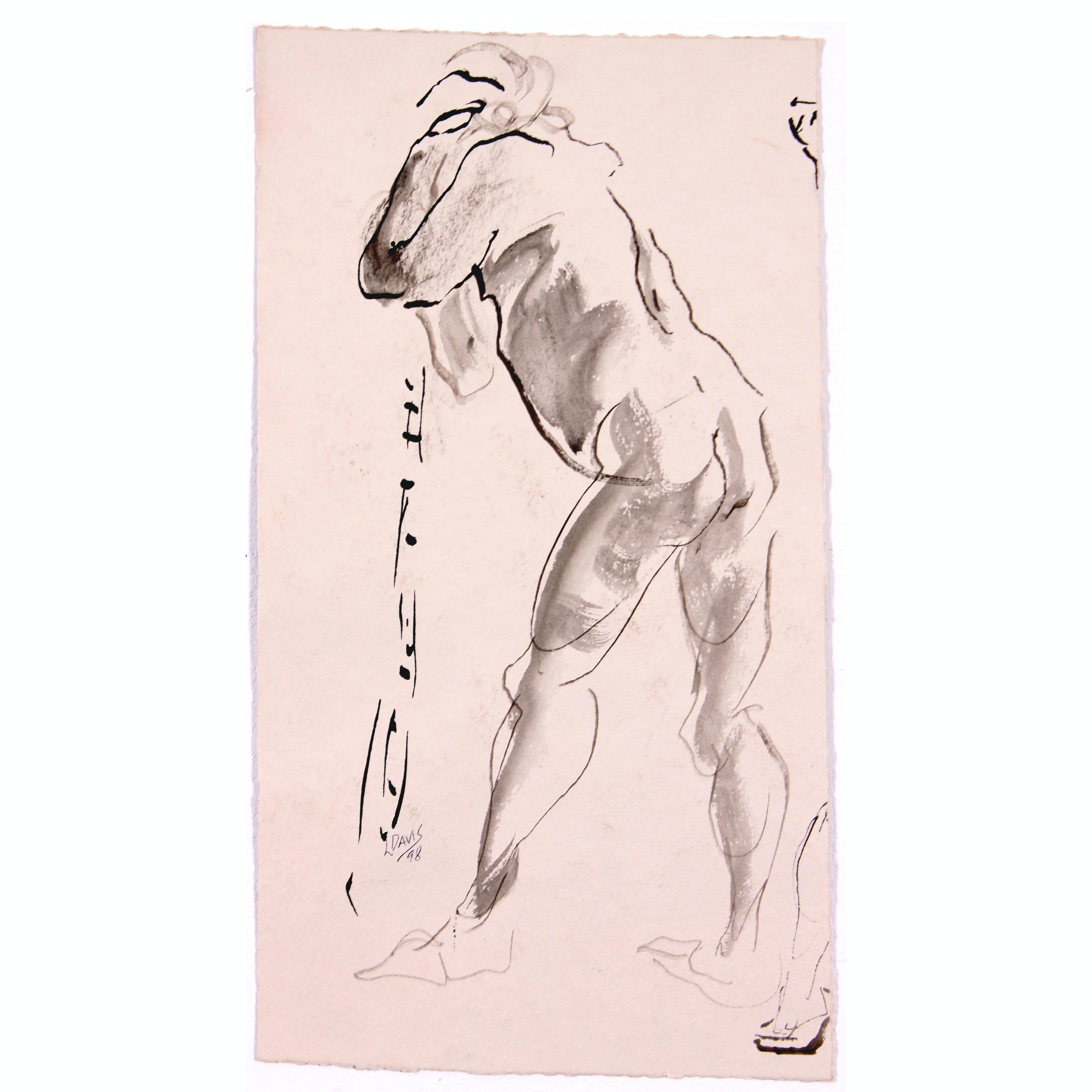 Original Abstract Figure Study by Lois Davis