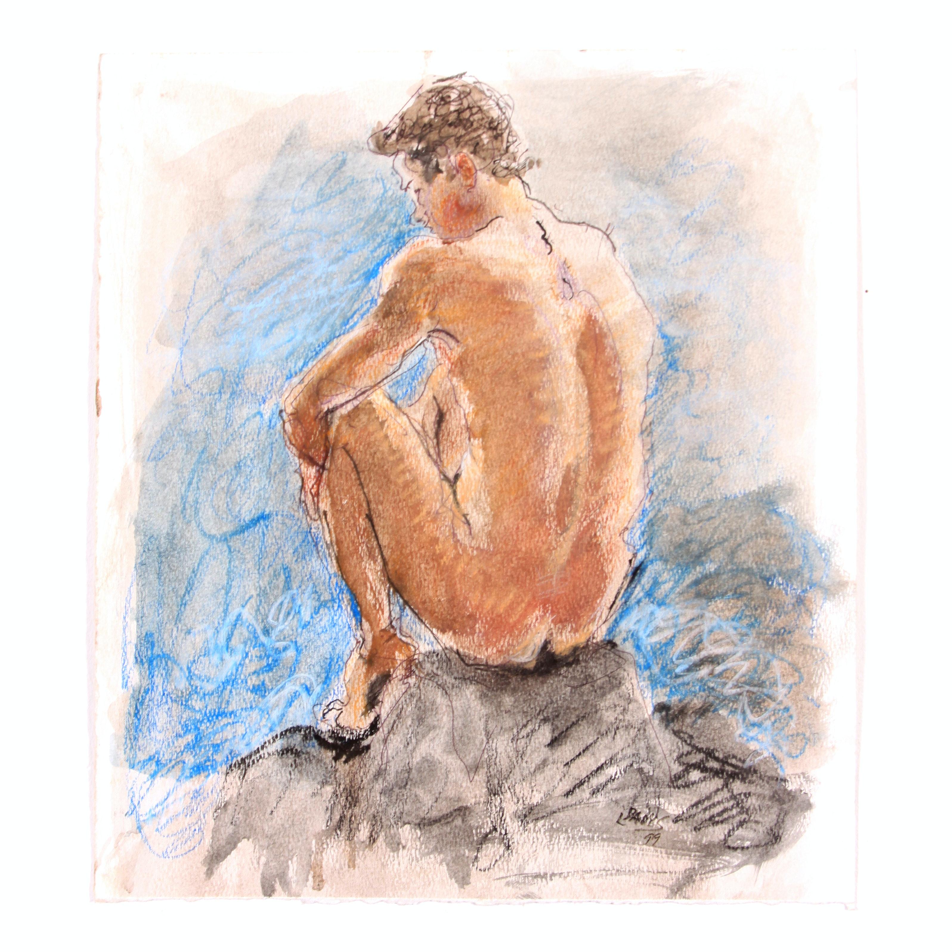 Original Double Sided Figure Study by Lois Davis