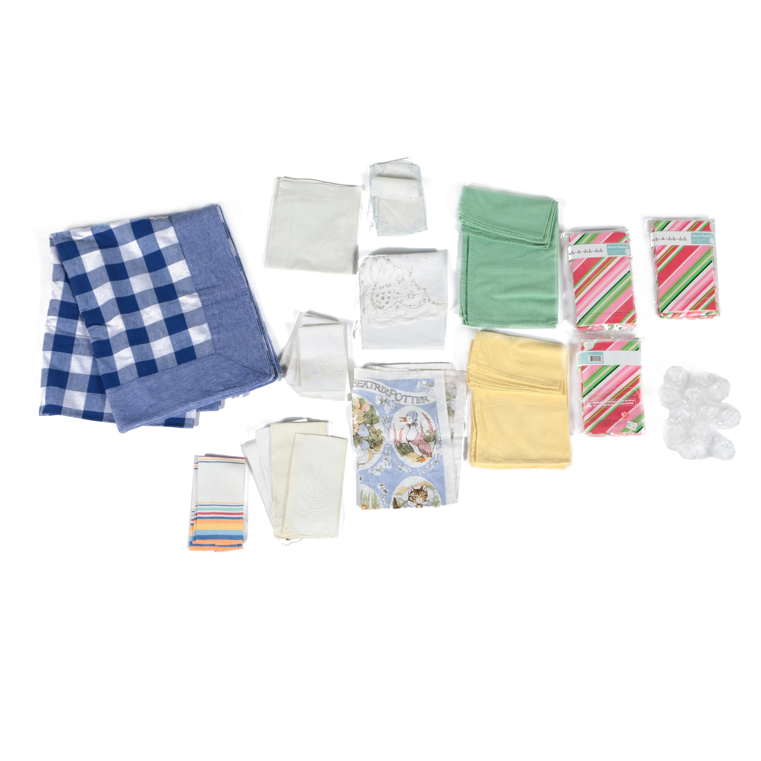 Kitchens Linens Featuring Napkins and Tablecloths
