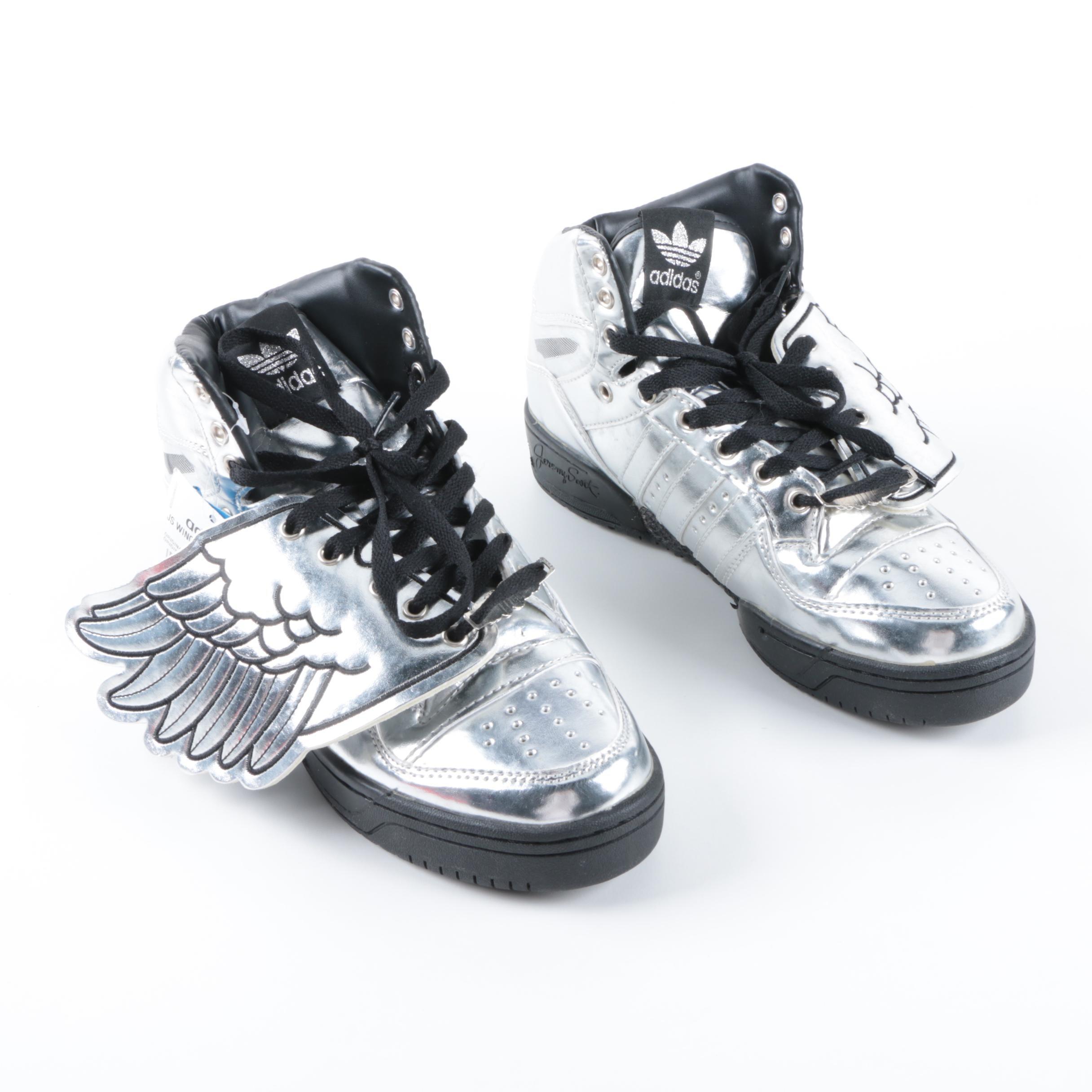Men's Jeremy Scott For Adidas Wings Sneakers in Silver