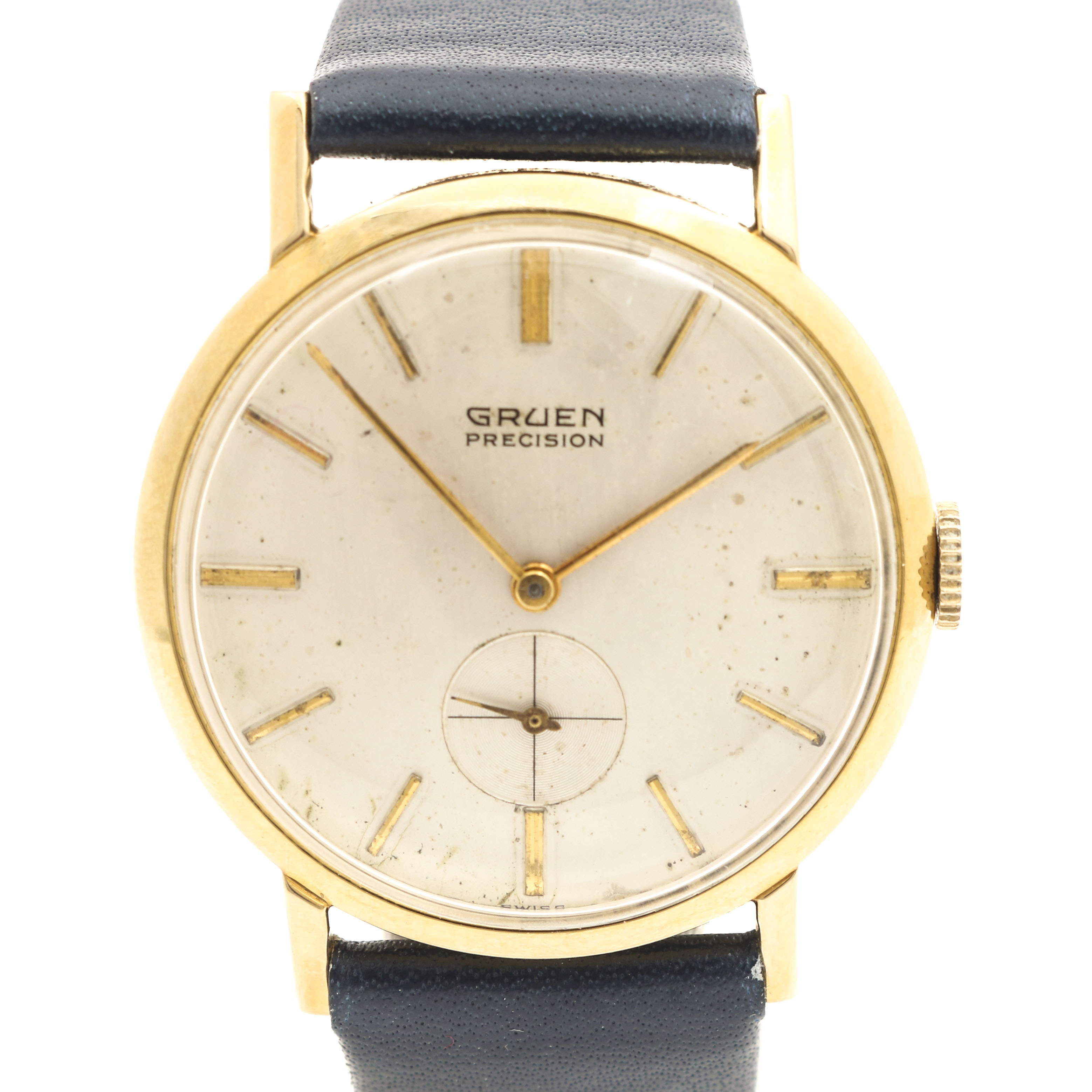 14K Yellow Gold Gruen Precision Wristwatch