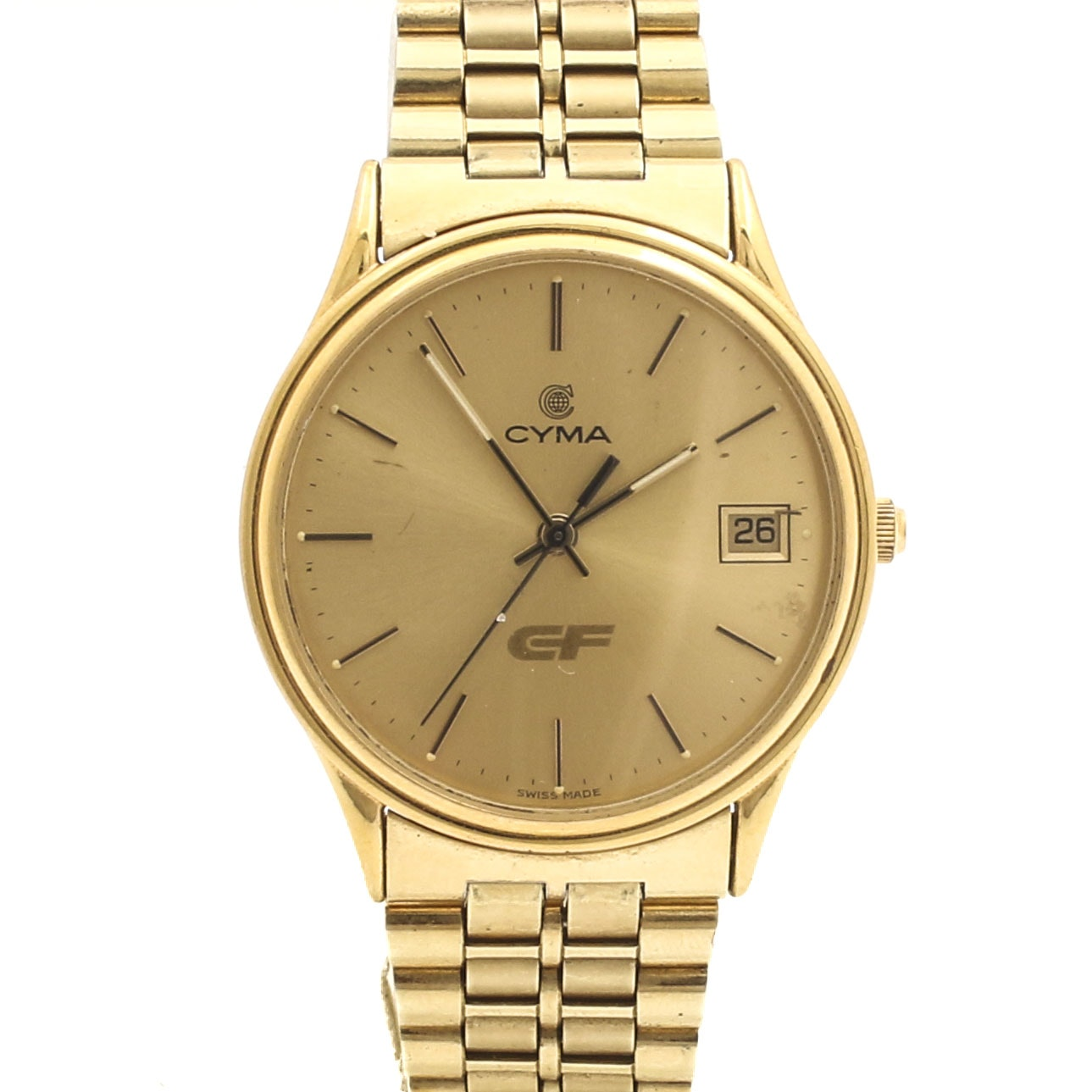 Cyma CF Gold-Tone Wristwatch