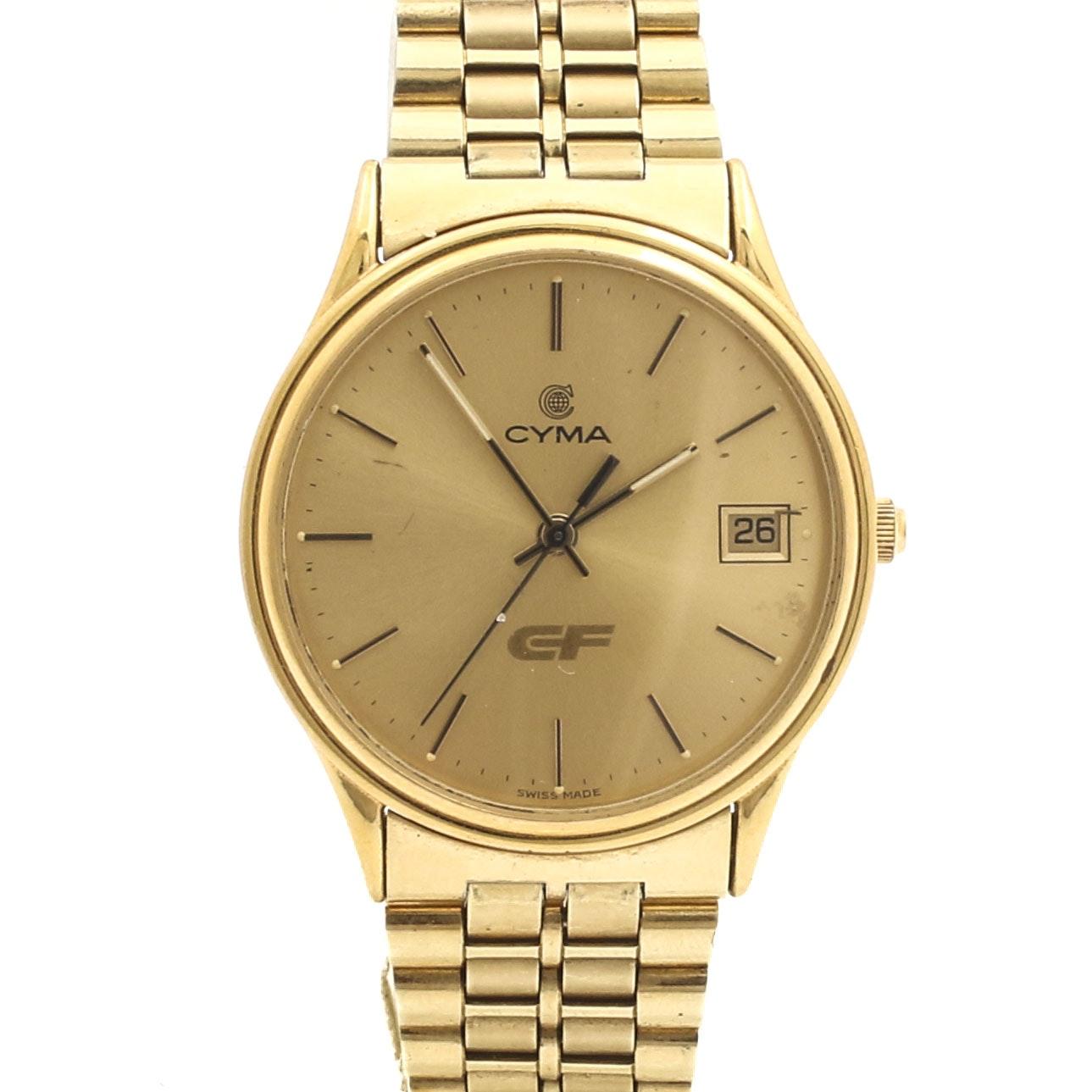 Cyma CF Gold-Tone Wristwatch