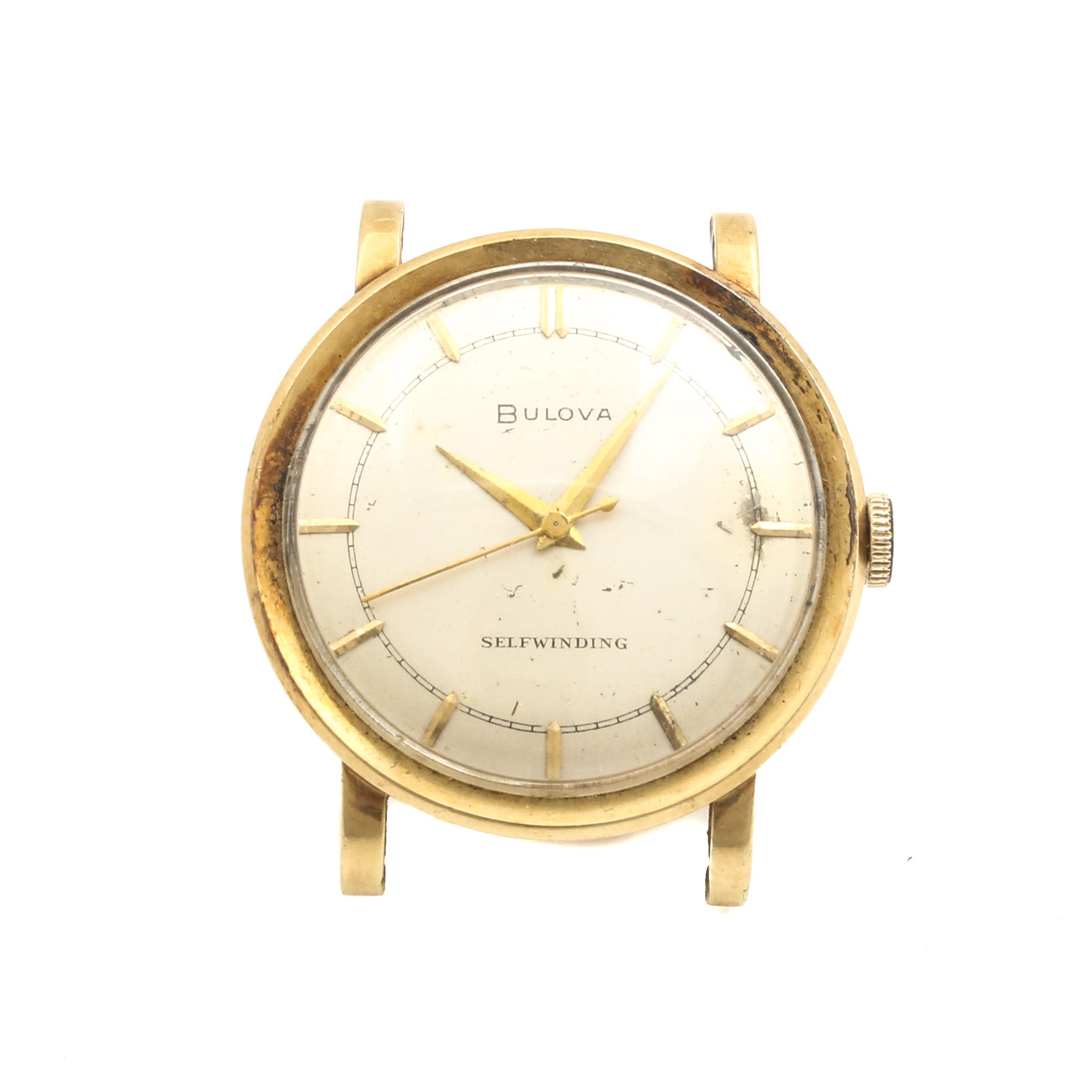 Bulova 14K Yellow Gold Watch Face