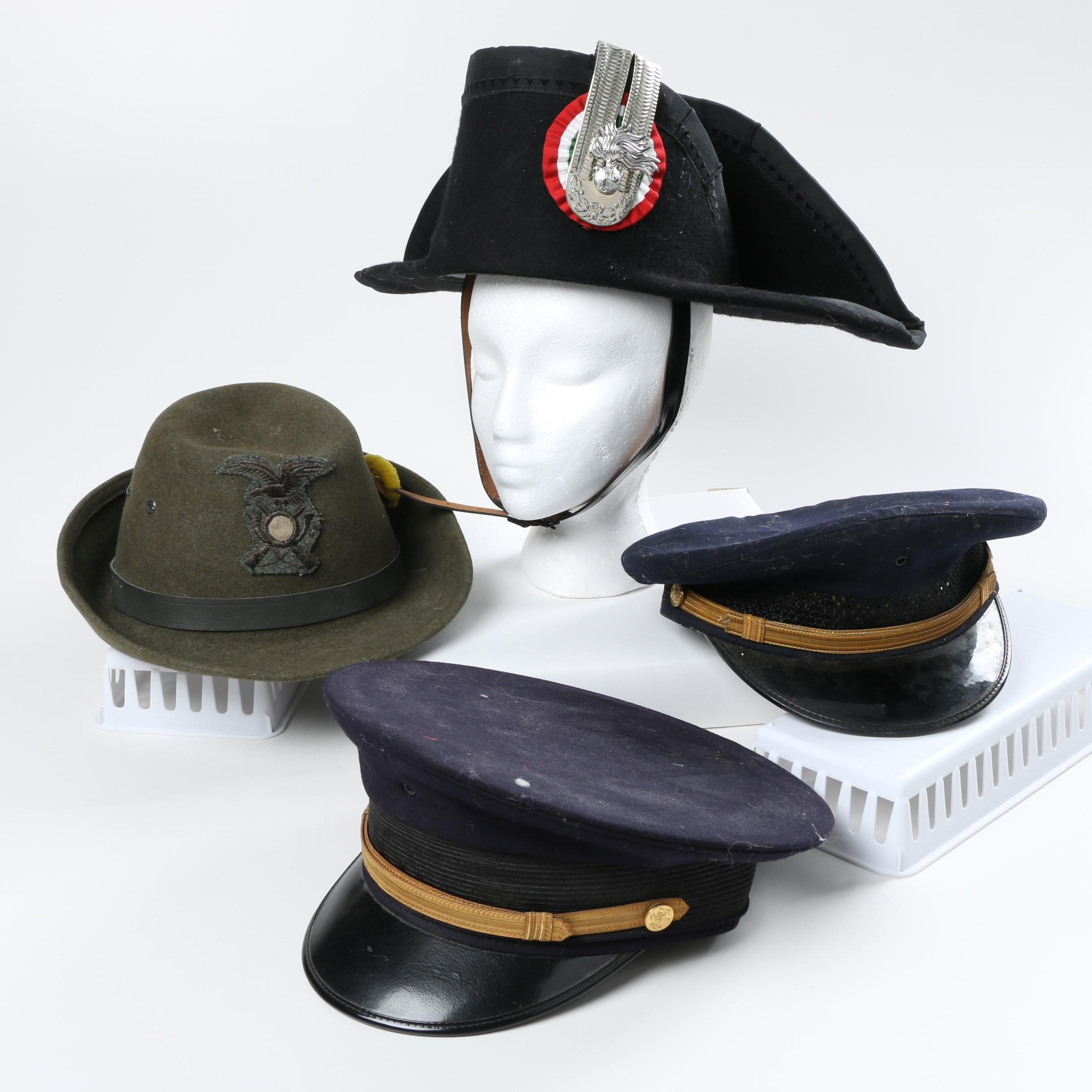 Vintage Police, Knights of Columbus and Green Wool Hat