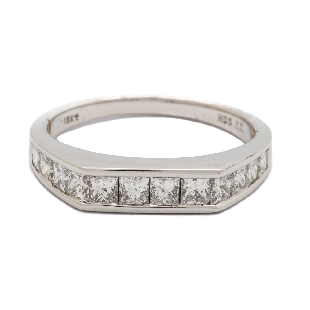 18K White Gold 1.00 CTW Diamond Ring