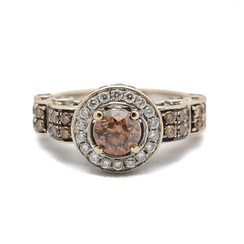 LeVian 14K White Gold 1.21 CTW Brown Diamond Ring