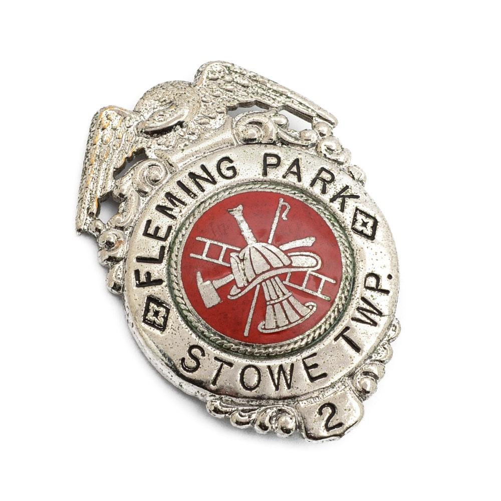 "Obsolete ""Fleming Park"" Fireman Badge"