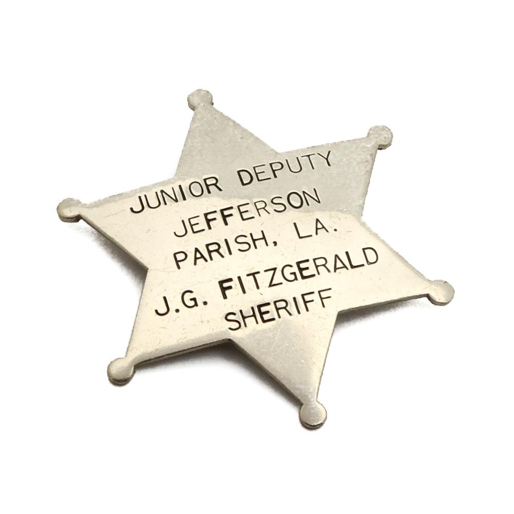 "Vintage Obsolete ""Jefferson Parrish LA. Patrol Badge"