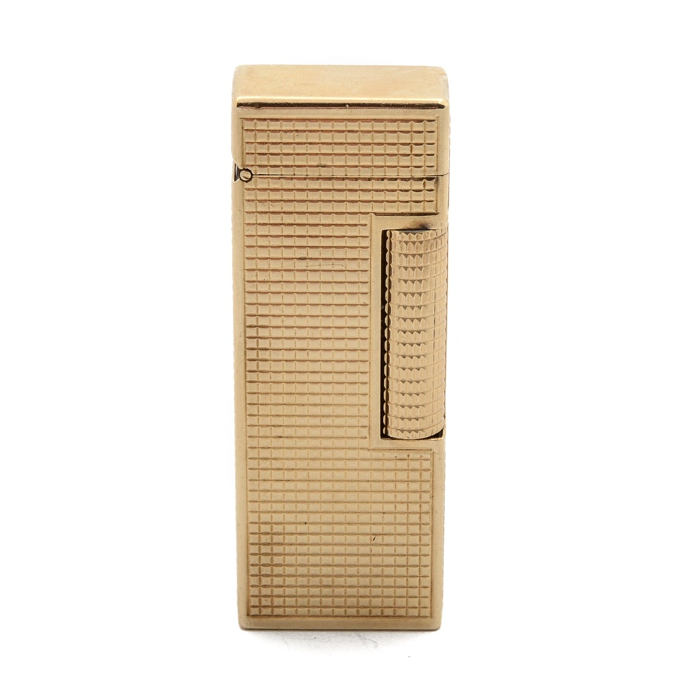 14K Yellow Gold Jacket Dunhill Rollagas Lighter