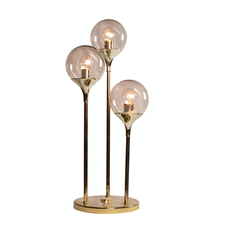 Mid Century Modern Tri Globe Table Lamp