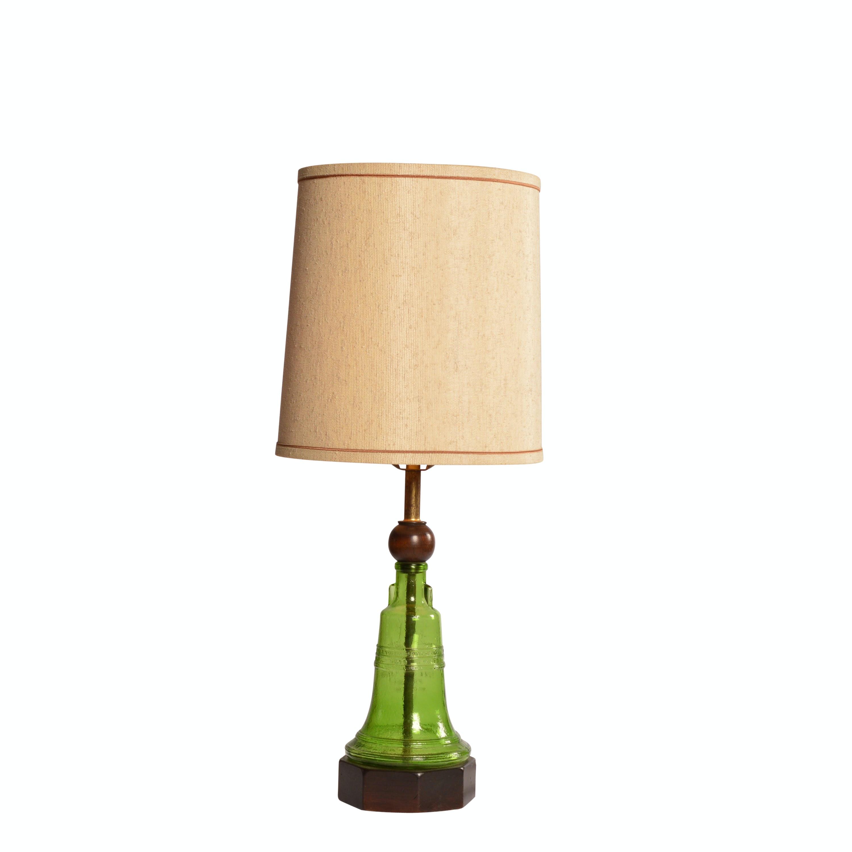 Green Glass Bell Lamp