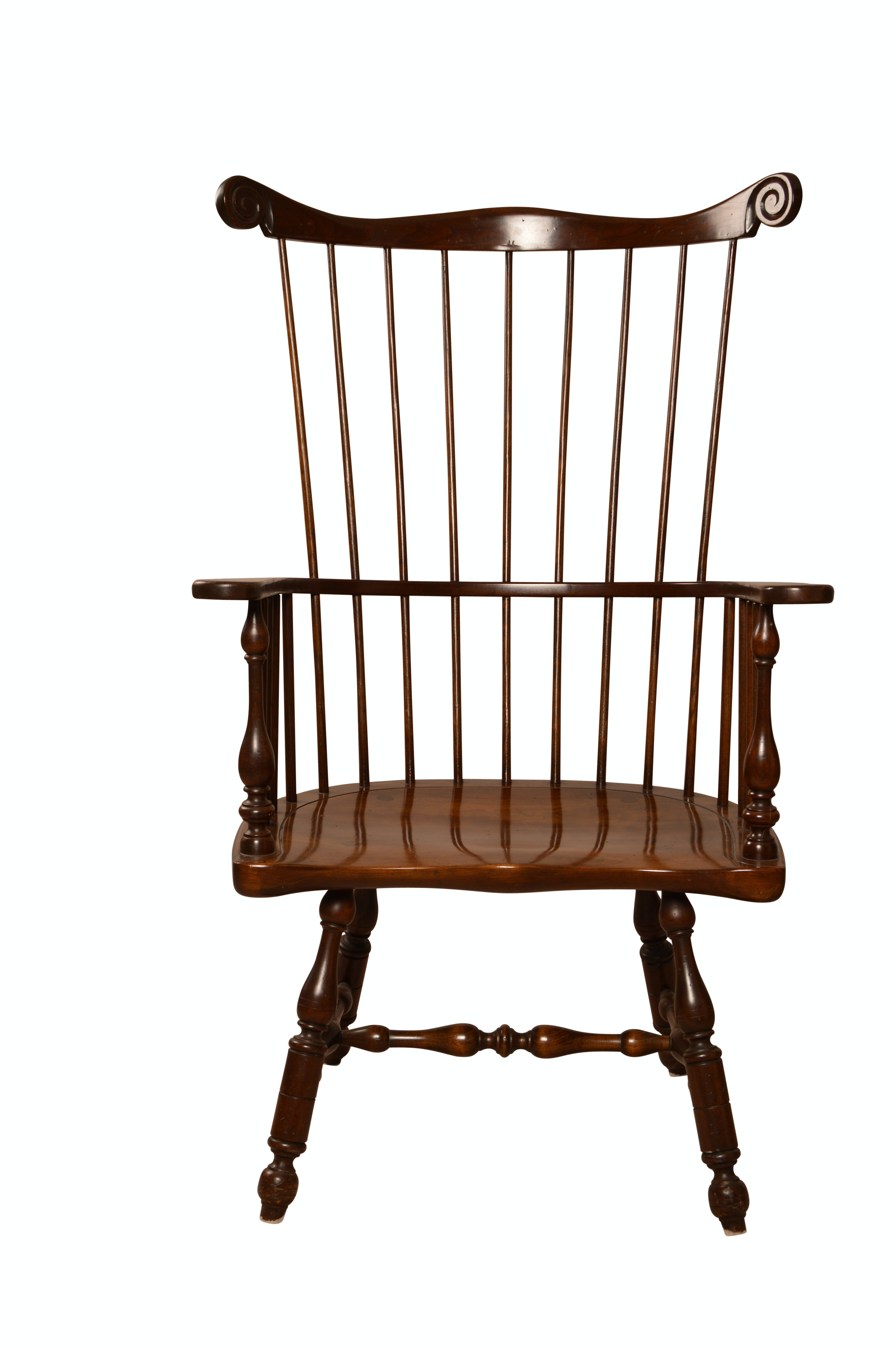 Stickley Walnut Windsor Style Armchair