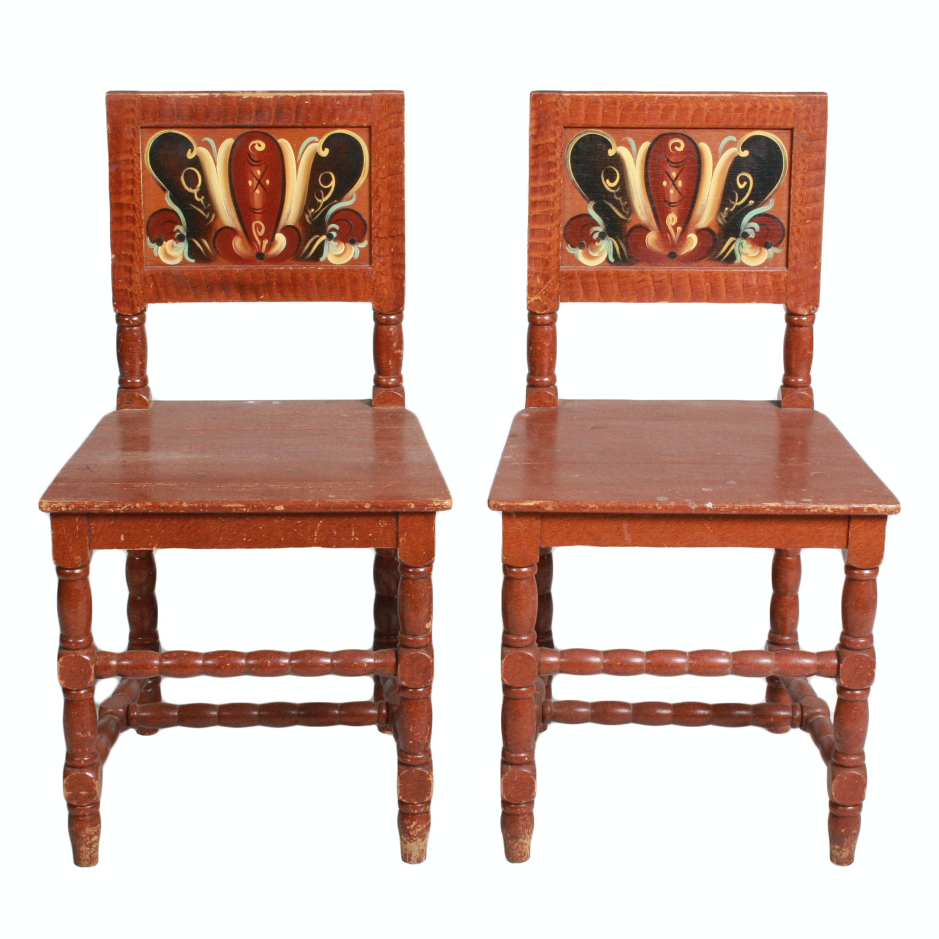 Swedish Painted Side Chairs