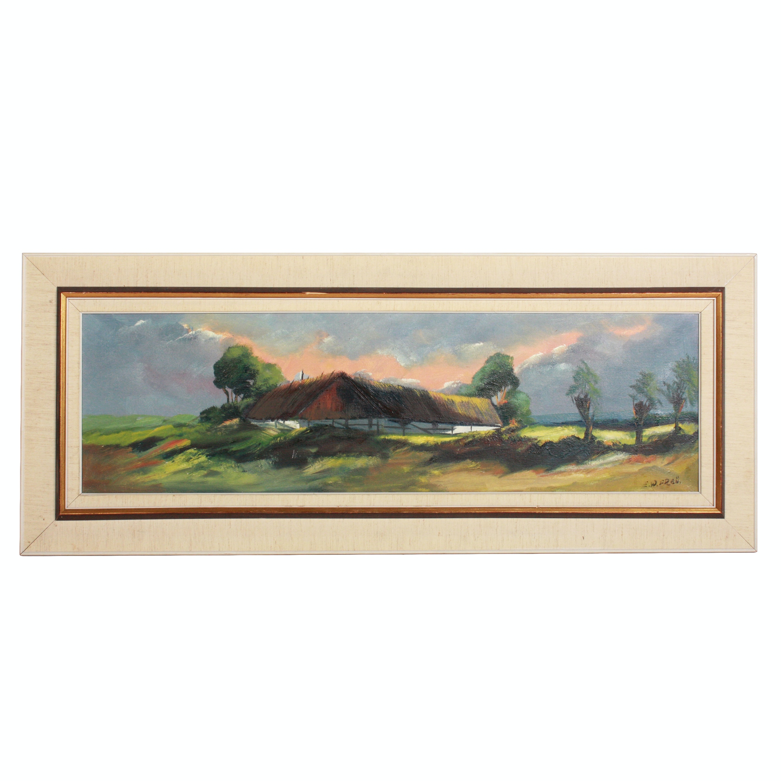 E.W. Freü Oil Painting of a Landscape