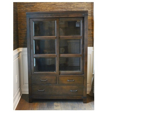 "Riverside Furniture ""Promenade"" Sliding Door Bookcase"