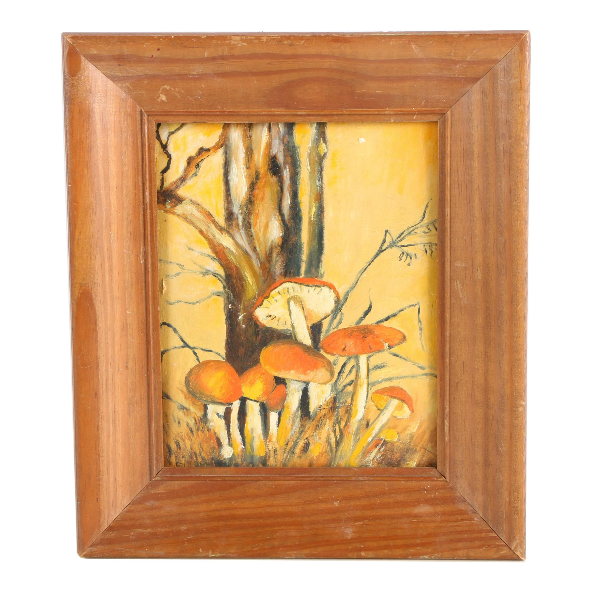 Oil Painting of Mushrooms