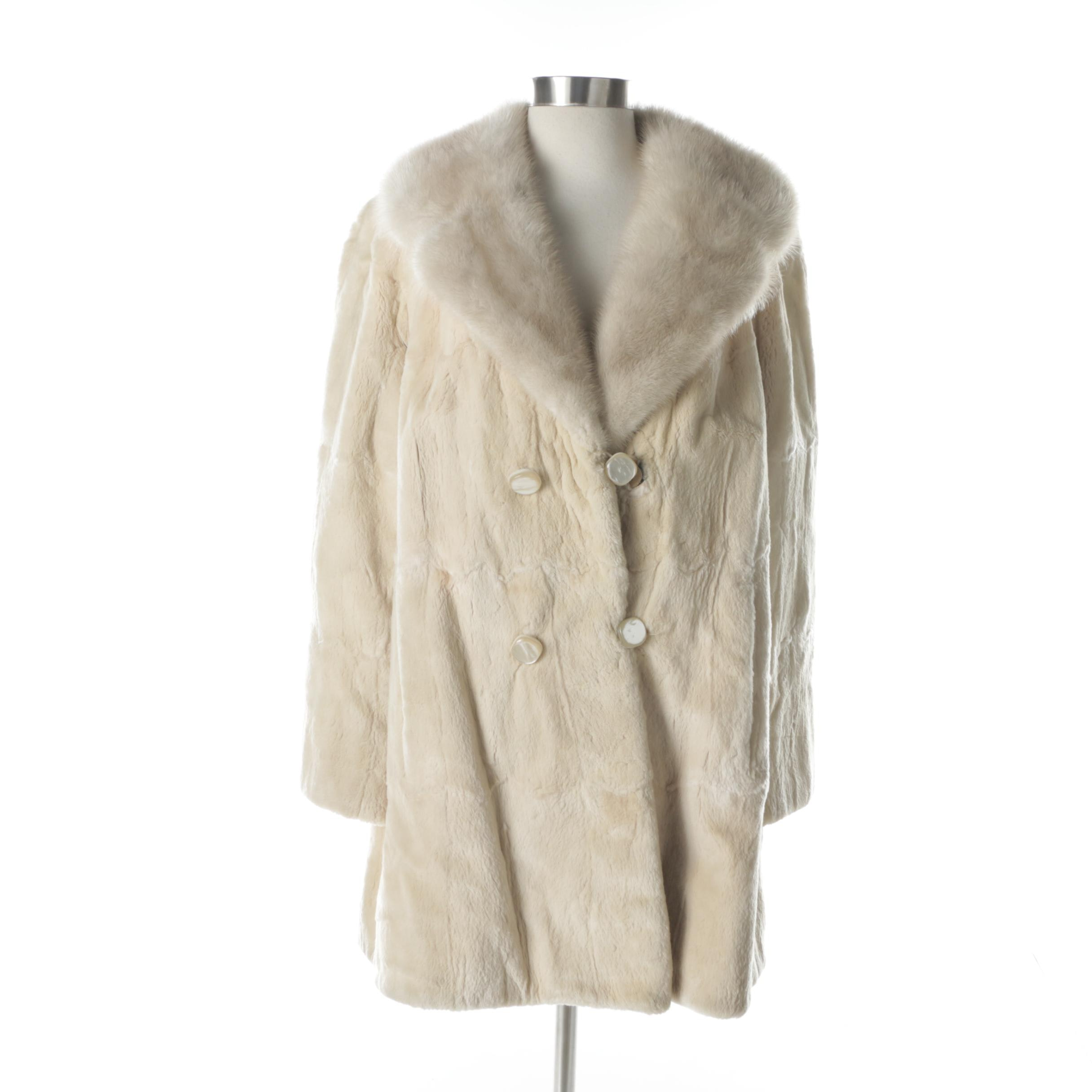 The Denver Chinchilla Fur Coat with Mink Collar
