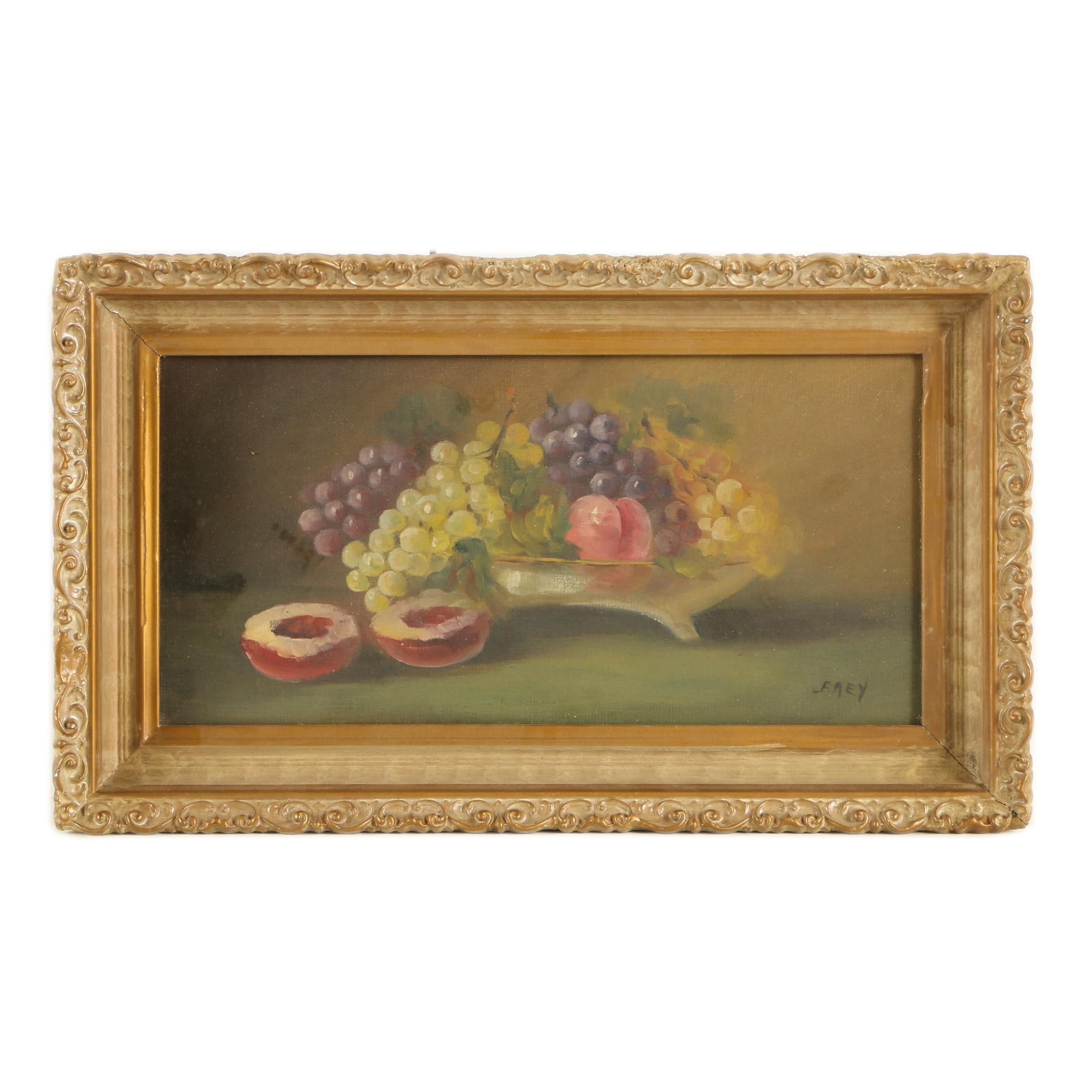 Frey Oil Painting of a Still Life