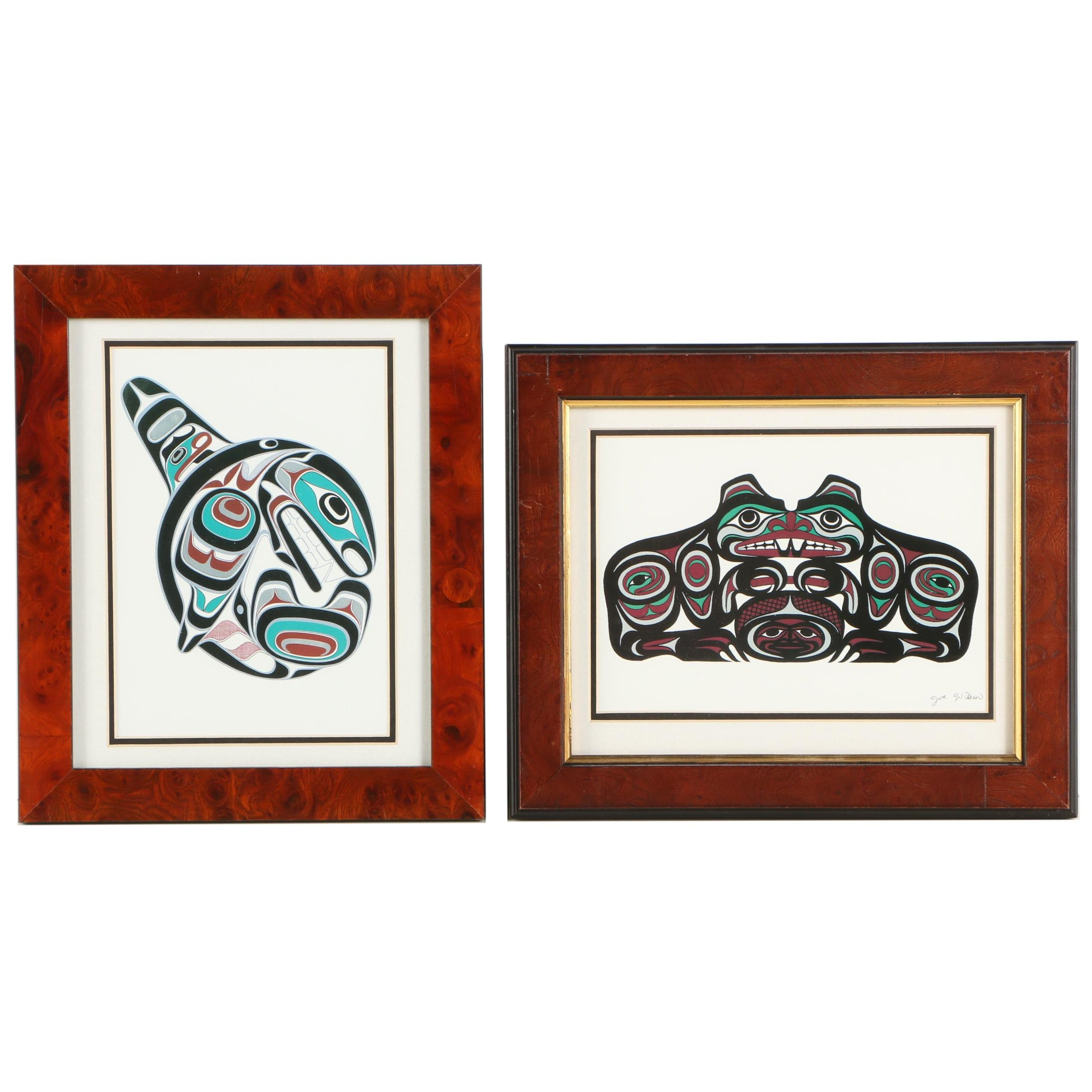 "Offset Lithographs After Joe Wilson ""Killer Whale"" and ""Beaver"""