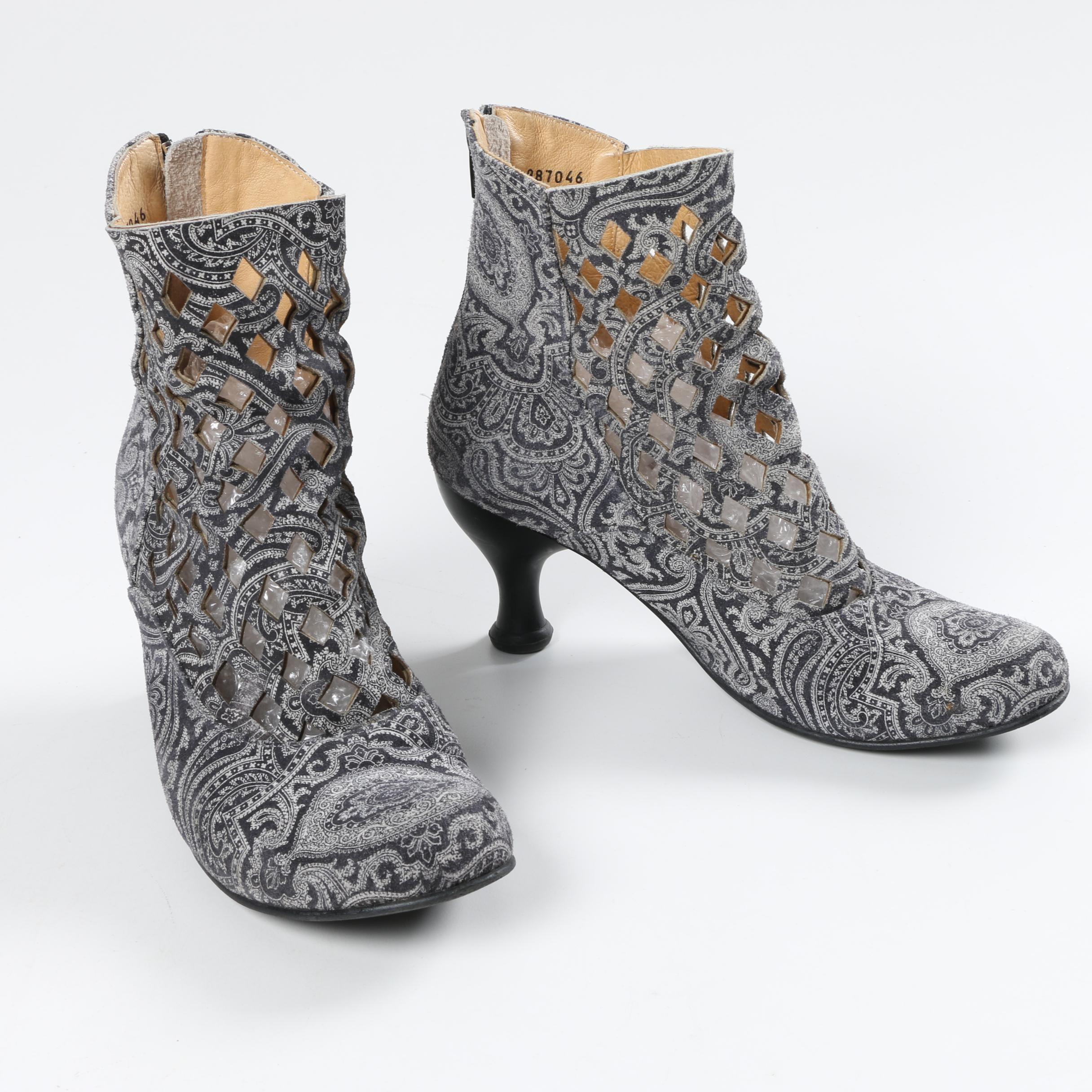 Women's John Fluevog Baroques Murillo Paisley Print Suede Ankle Boots