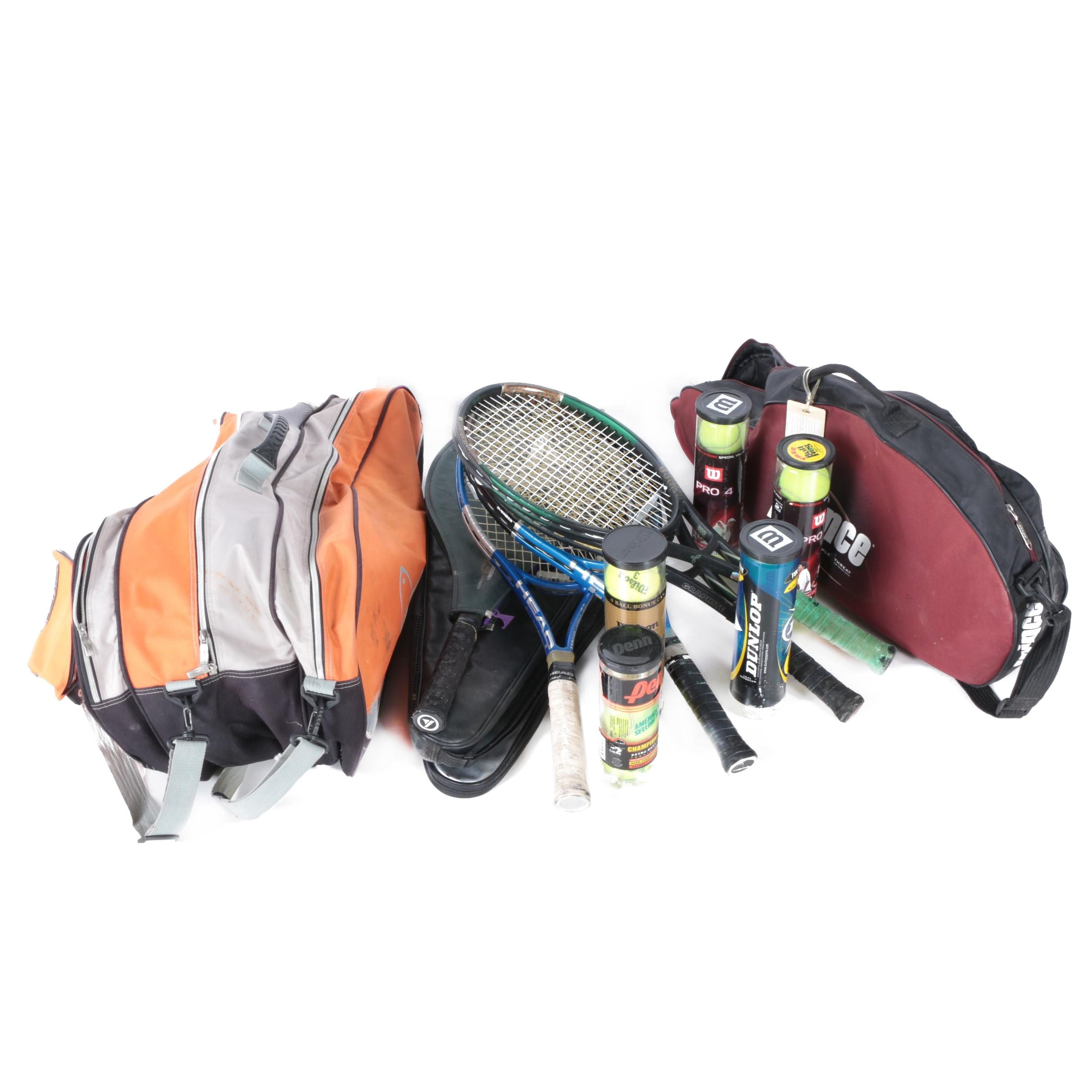 Tennis Racket Bag with Rackets