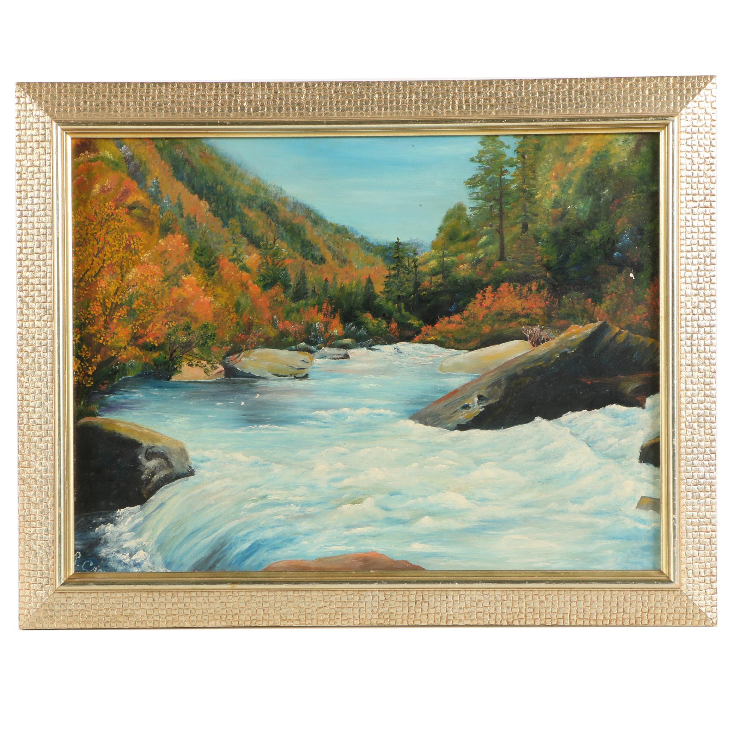 Landscape Oil Painting on Board