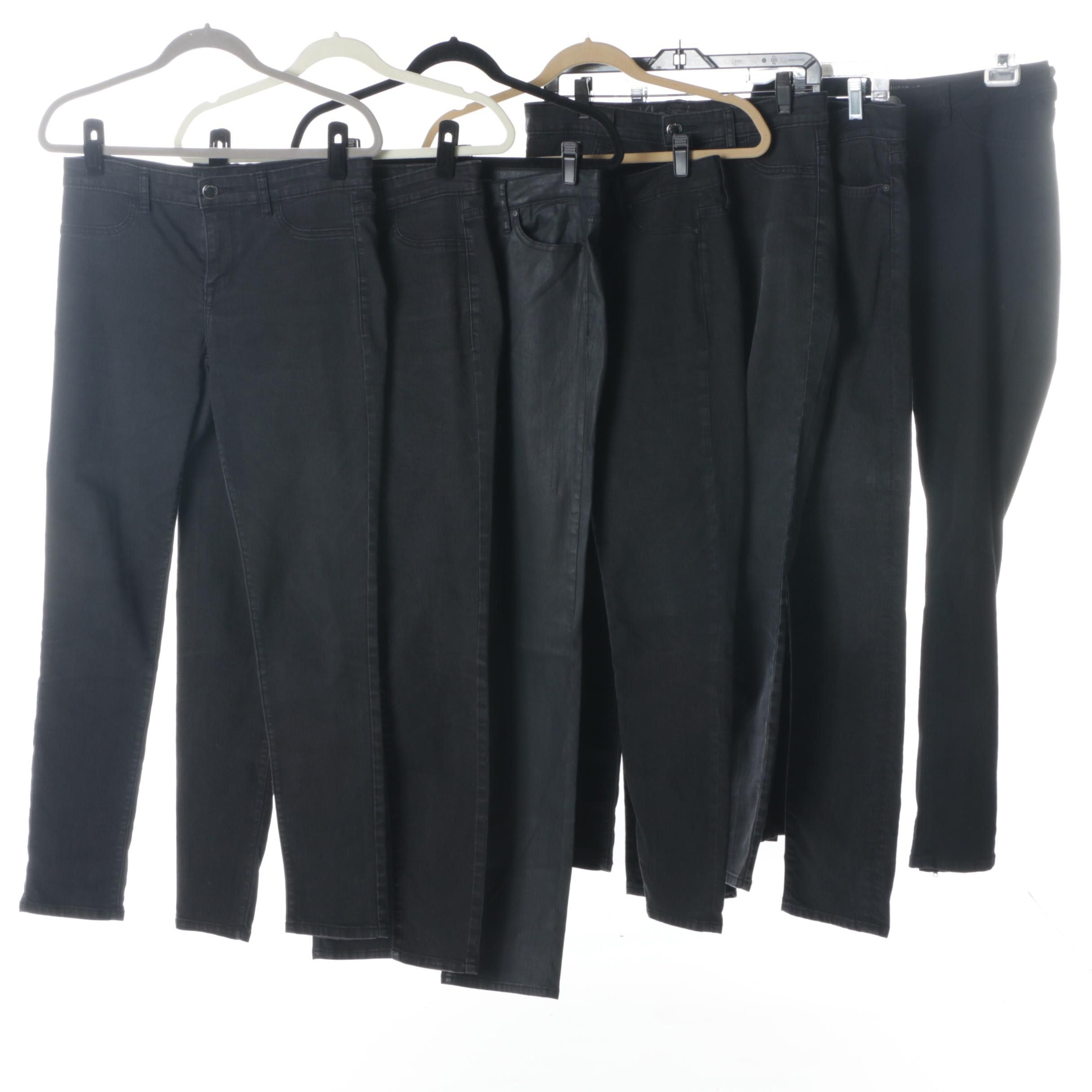 Women's Black Legging Jeans Including Calvin Klein and 7 For All Mankind
