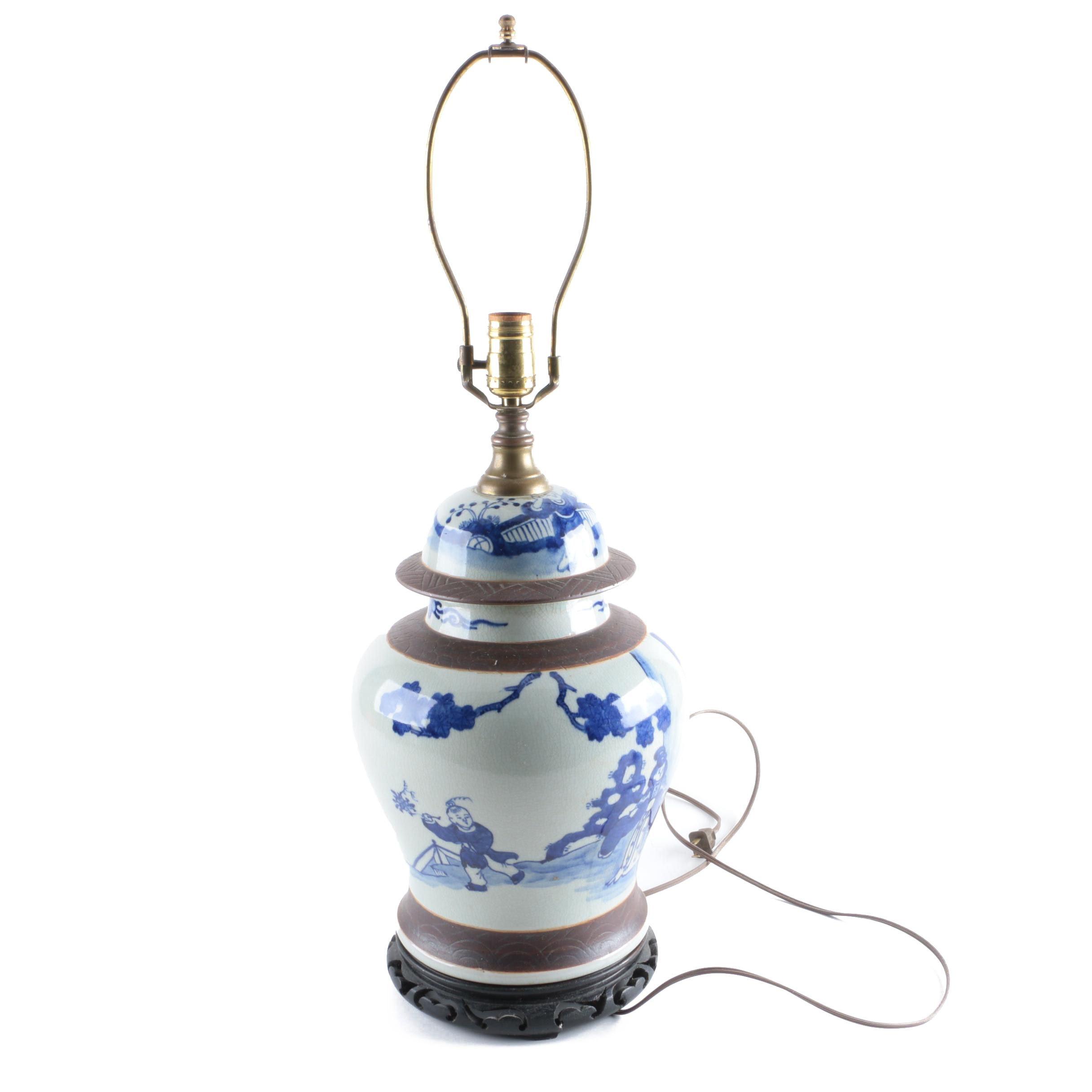 Asian Inspired Ceramic Lamp