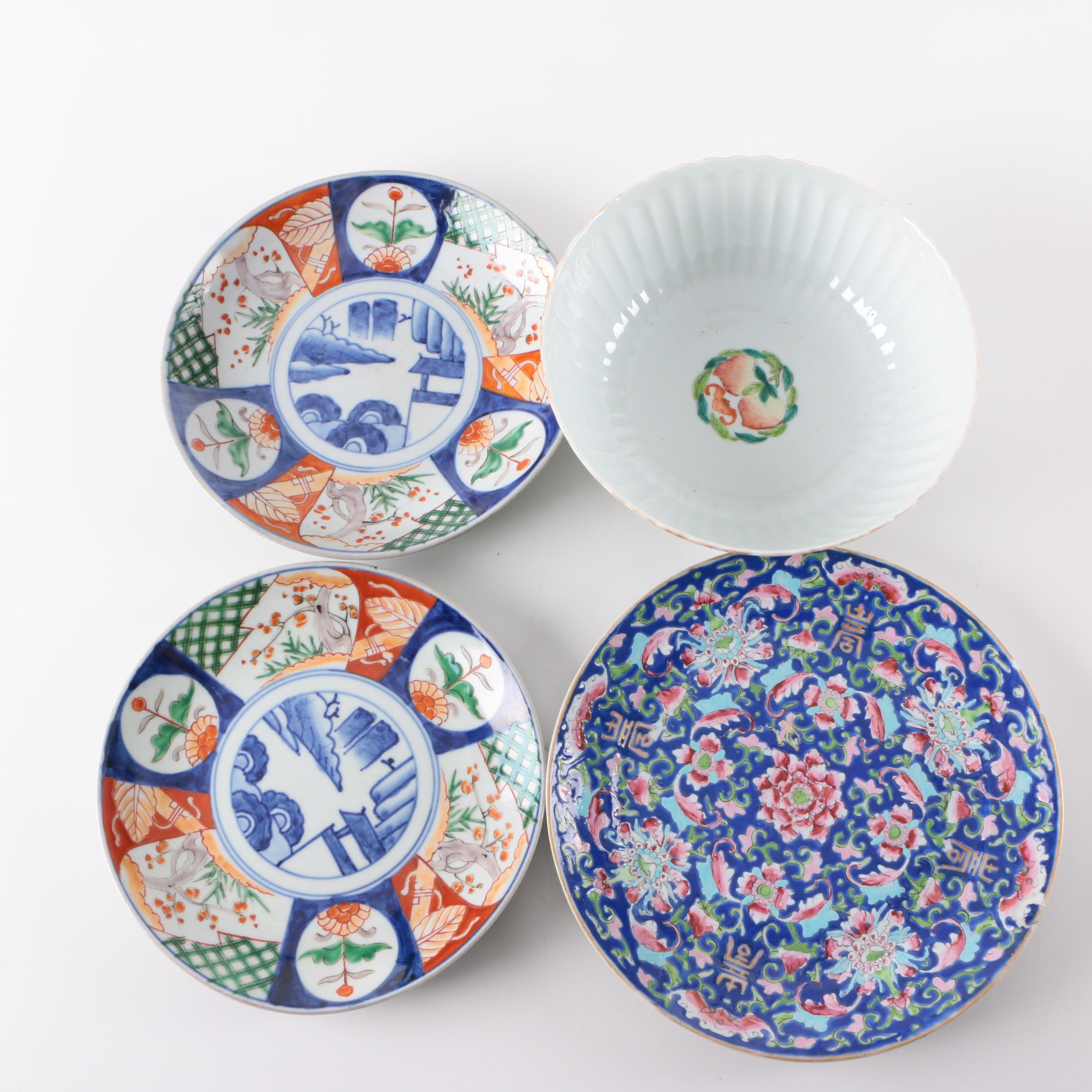 Ceramic and Porcelain Serveware Including Imari Style