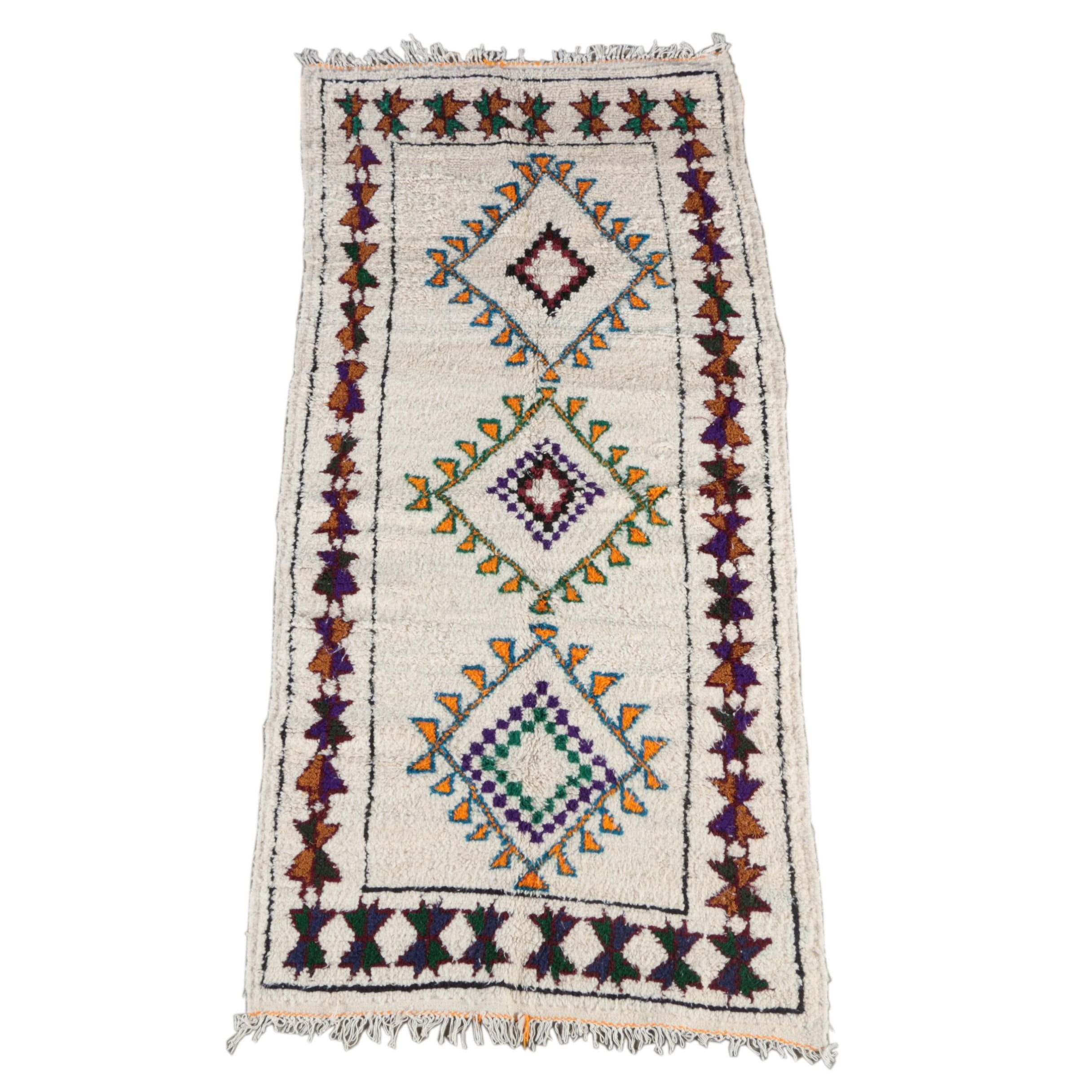 Hand-Knotted North African Area Rug