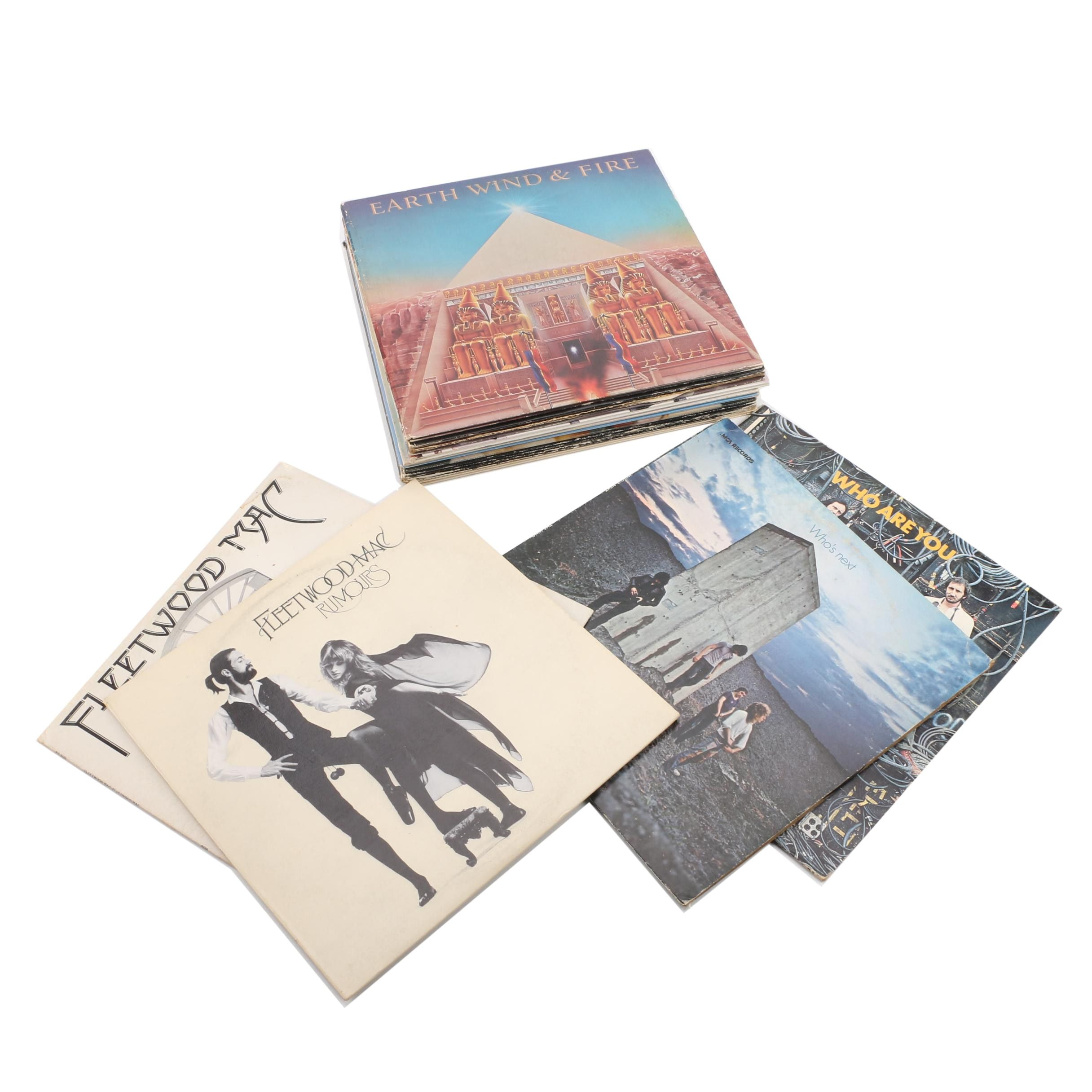 Vintage Rock Records Featuring Fleetwood Mac and the Who