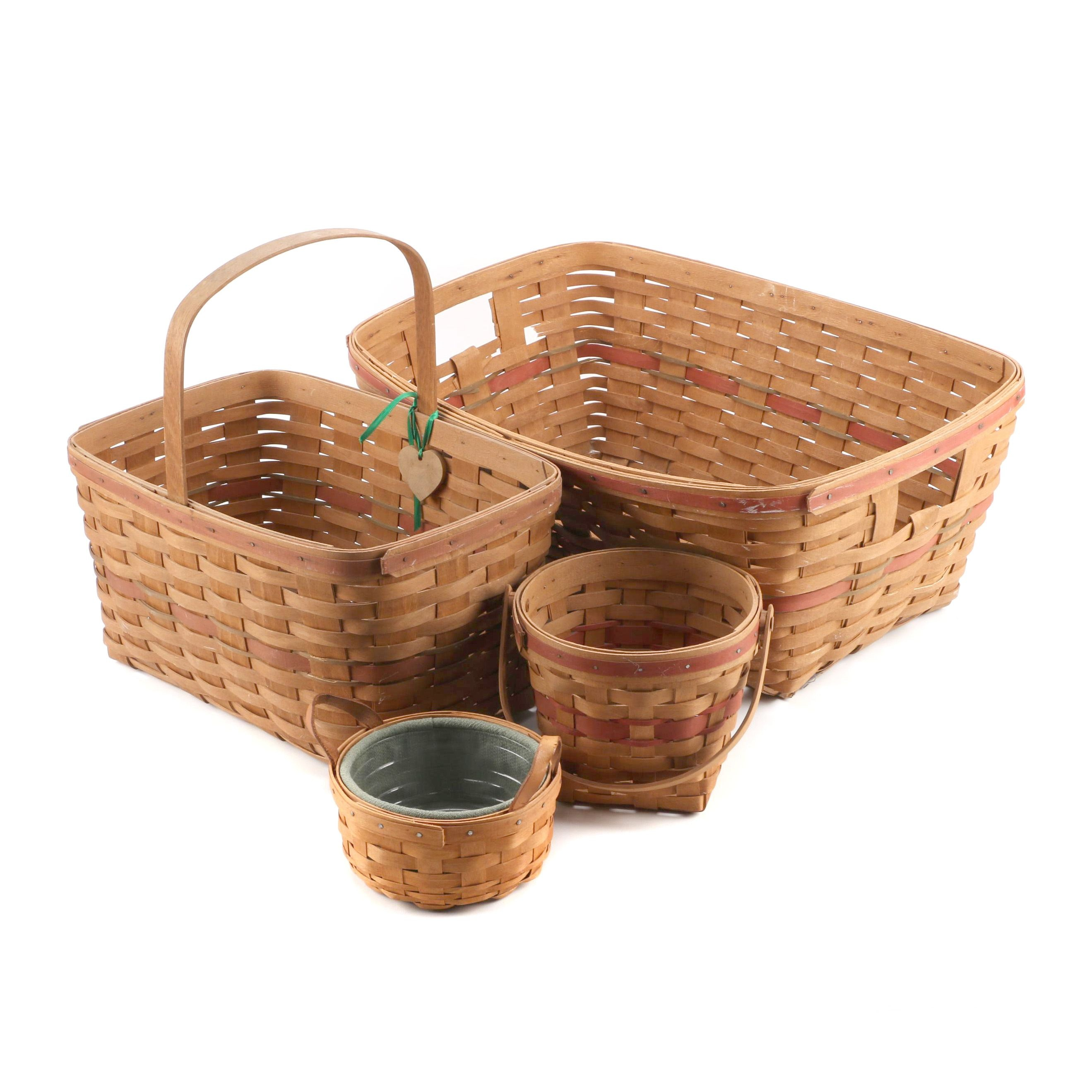 Assorted Handwoven Longaberger Baskets