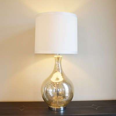 Mercury Glass Style Table Lamp