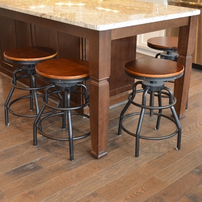 Four Counter Height Swivel Stools