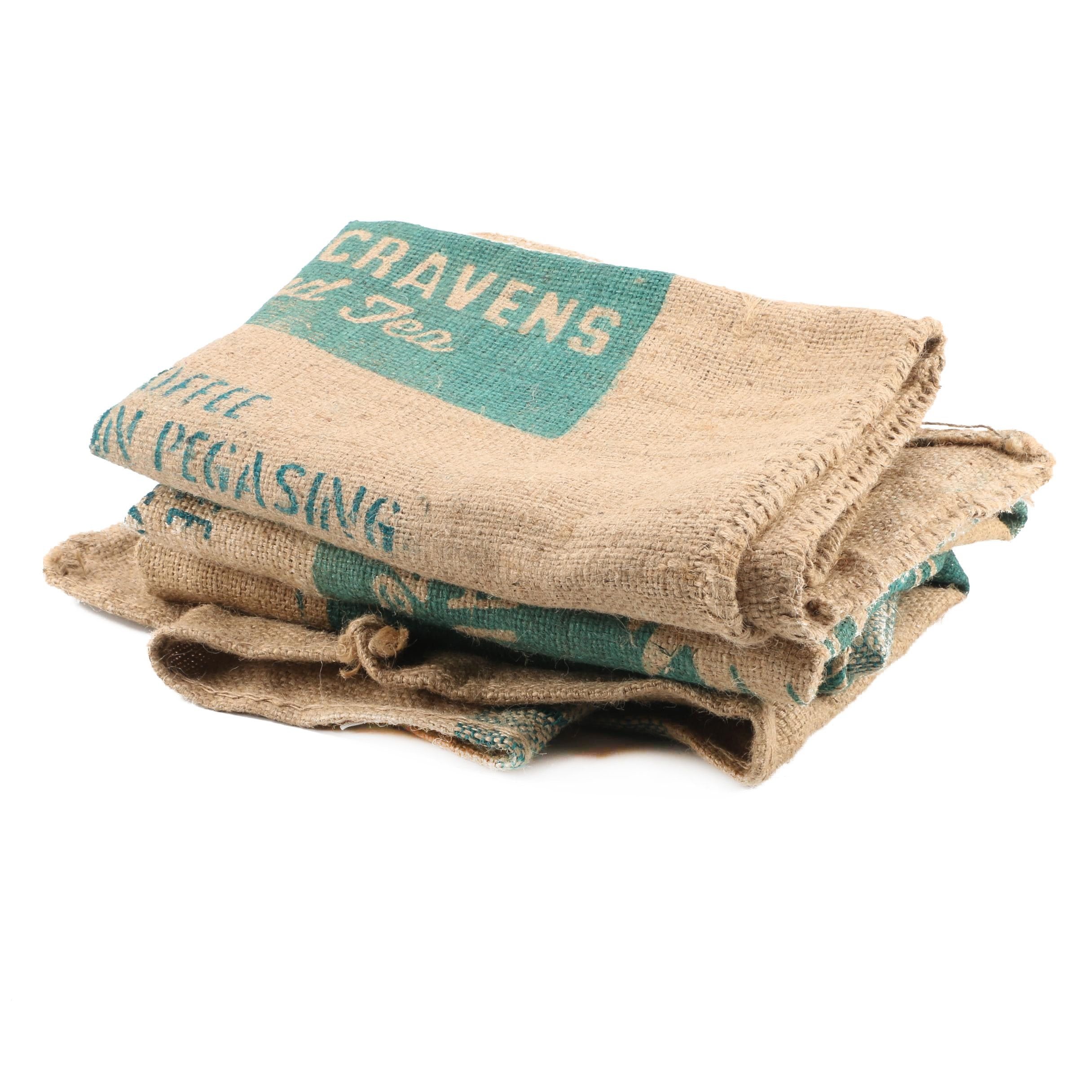 Hubbard Cravens Coffee and Tea Burlap Sacks