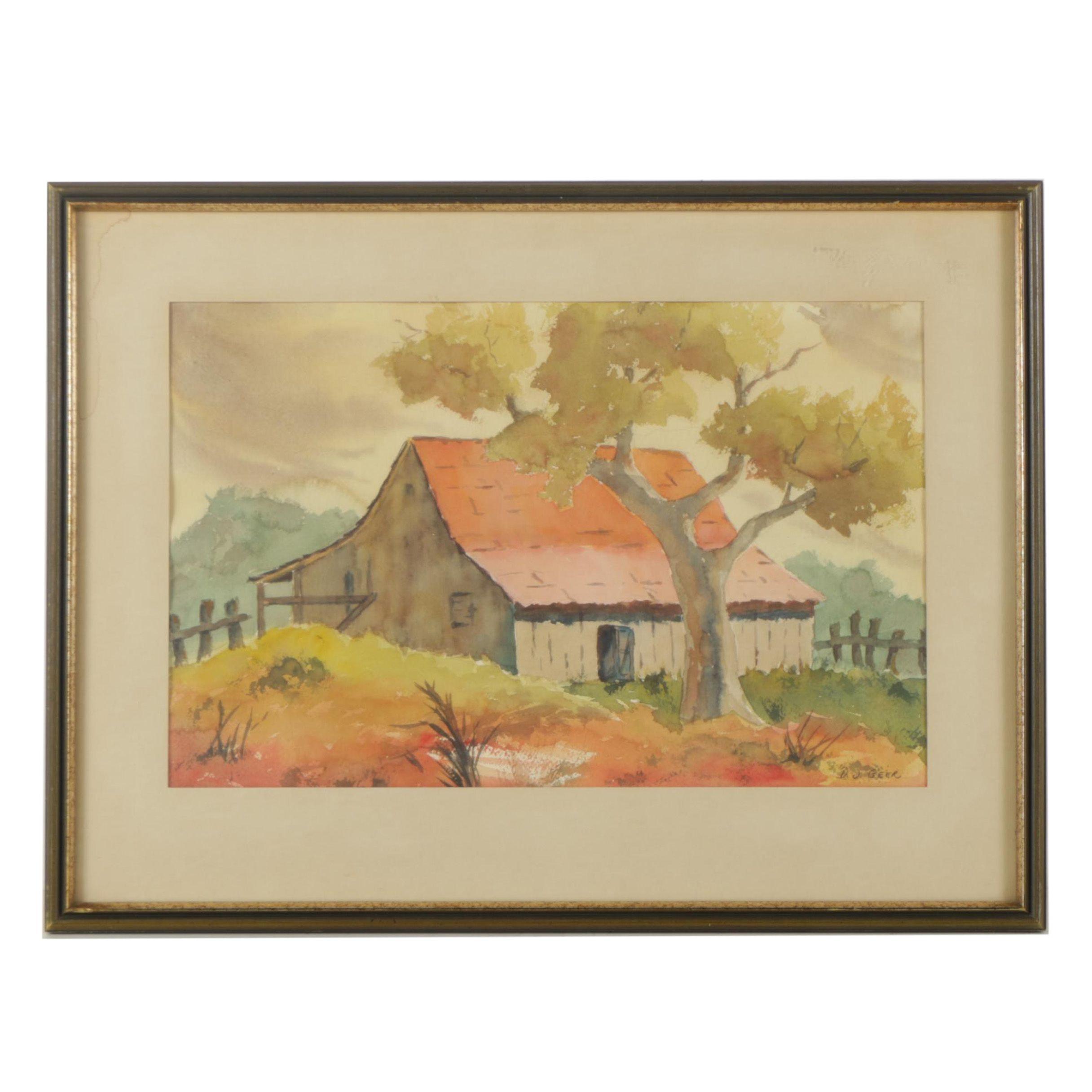 D.J. Geer Watercolor Painting