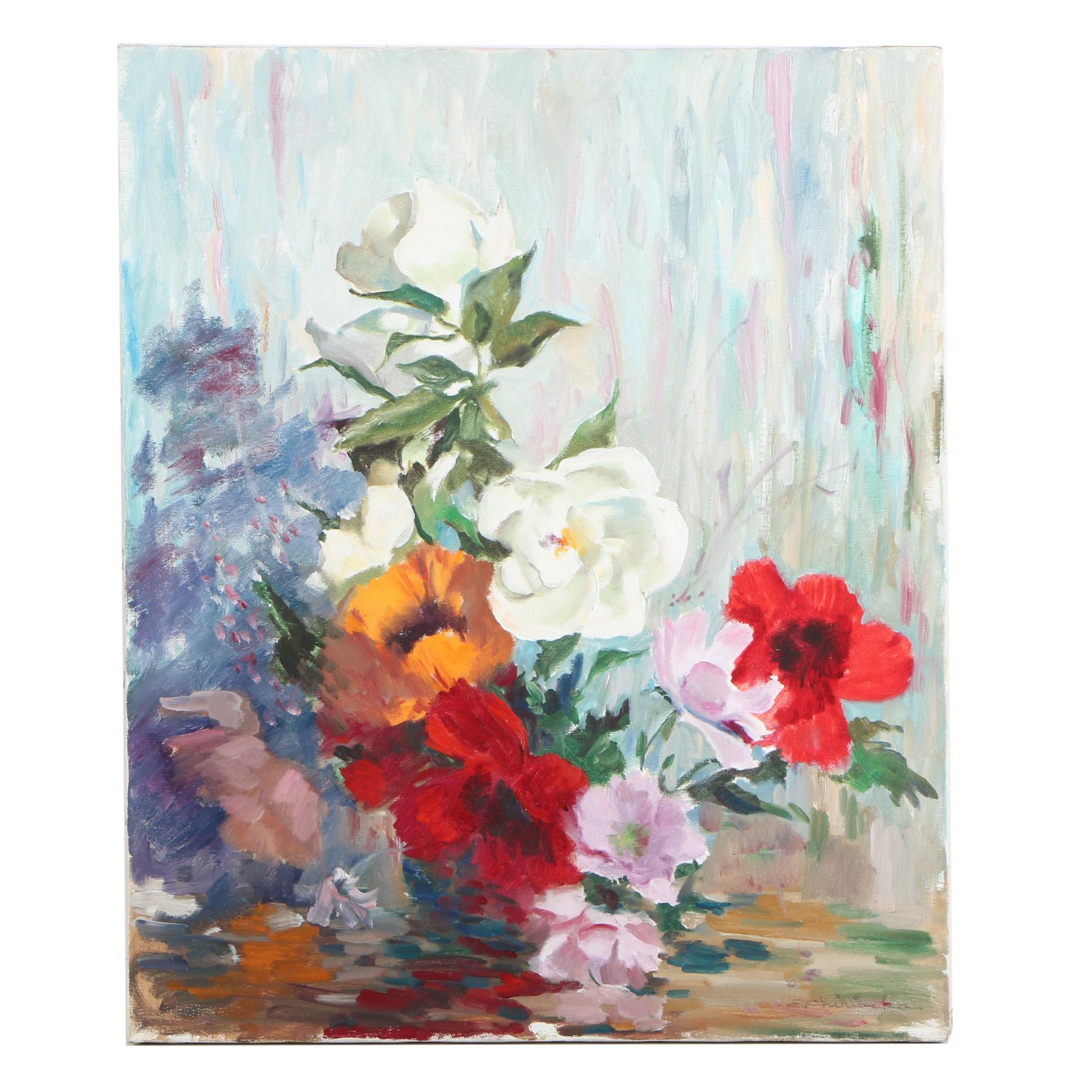 Oil Floral Still Life Painting