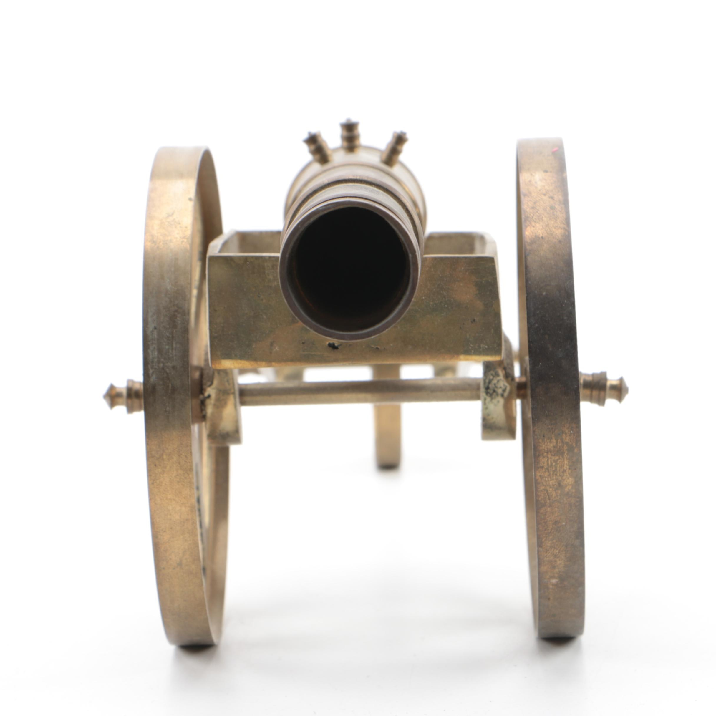 Vintage Decorative Brass Cannon