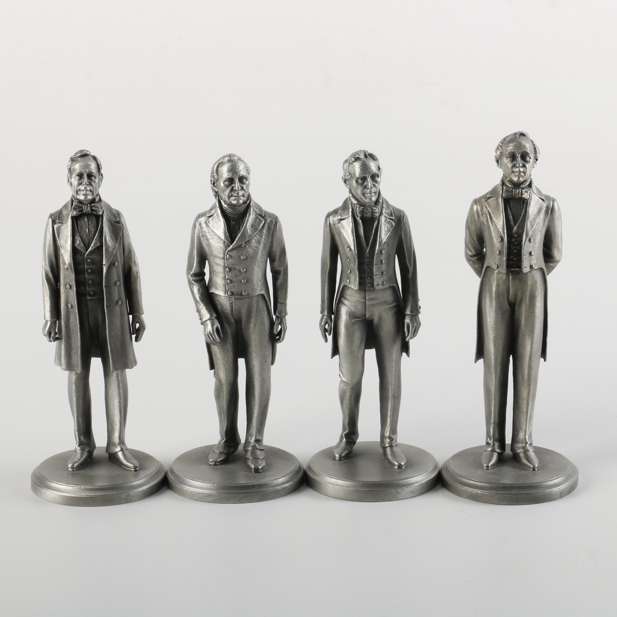 Vintage Lance Pewter American President Figurines