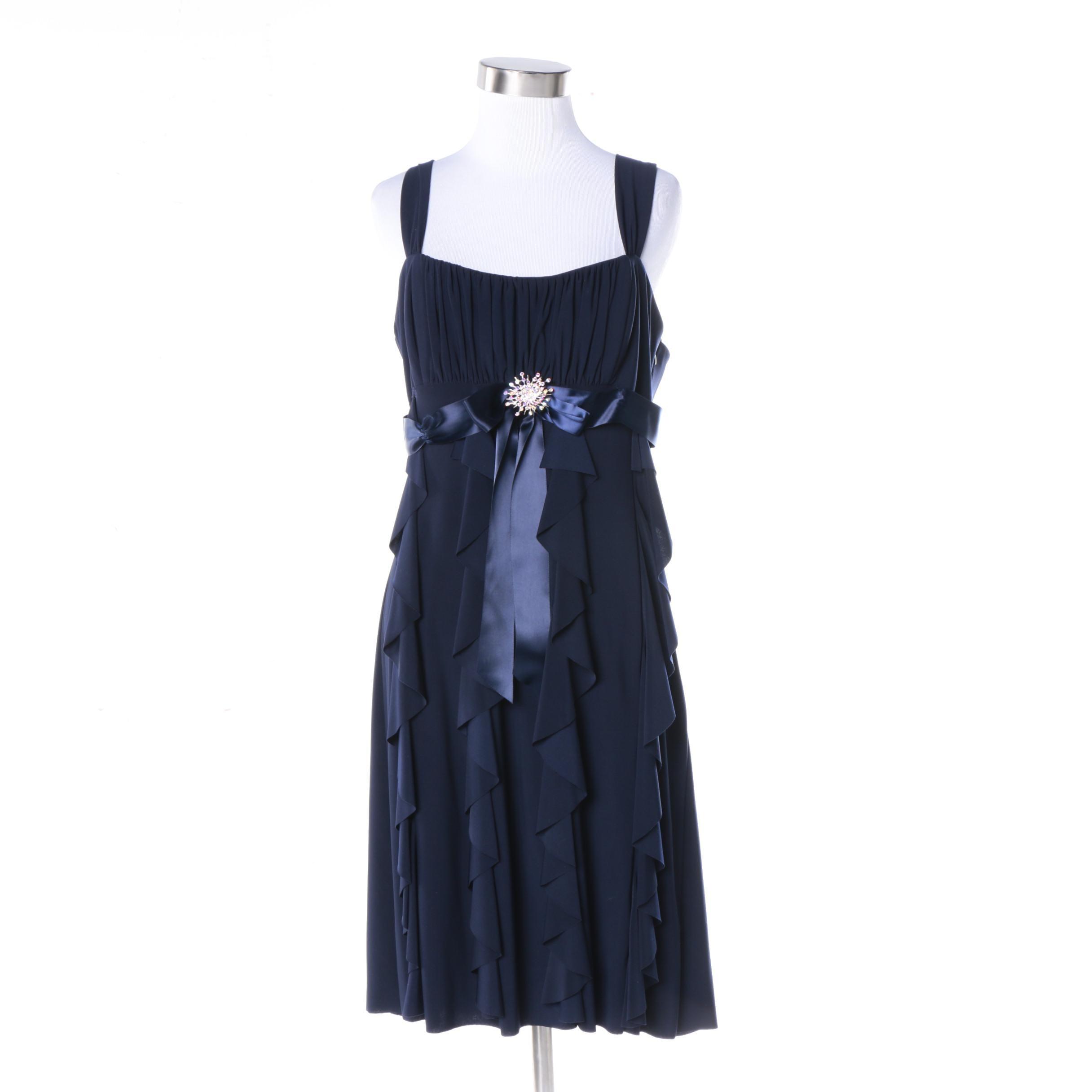 Cache Blue Sleeveless Dress