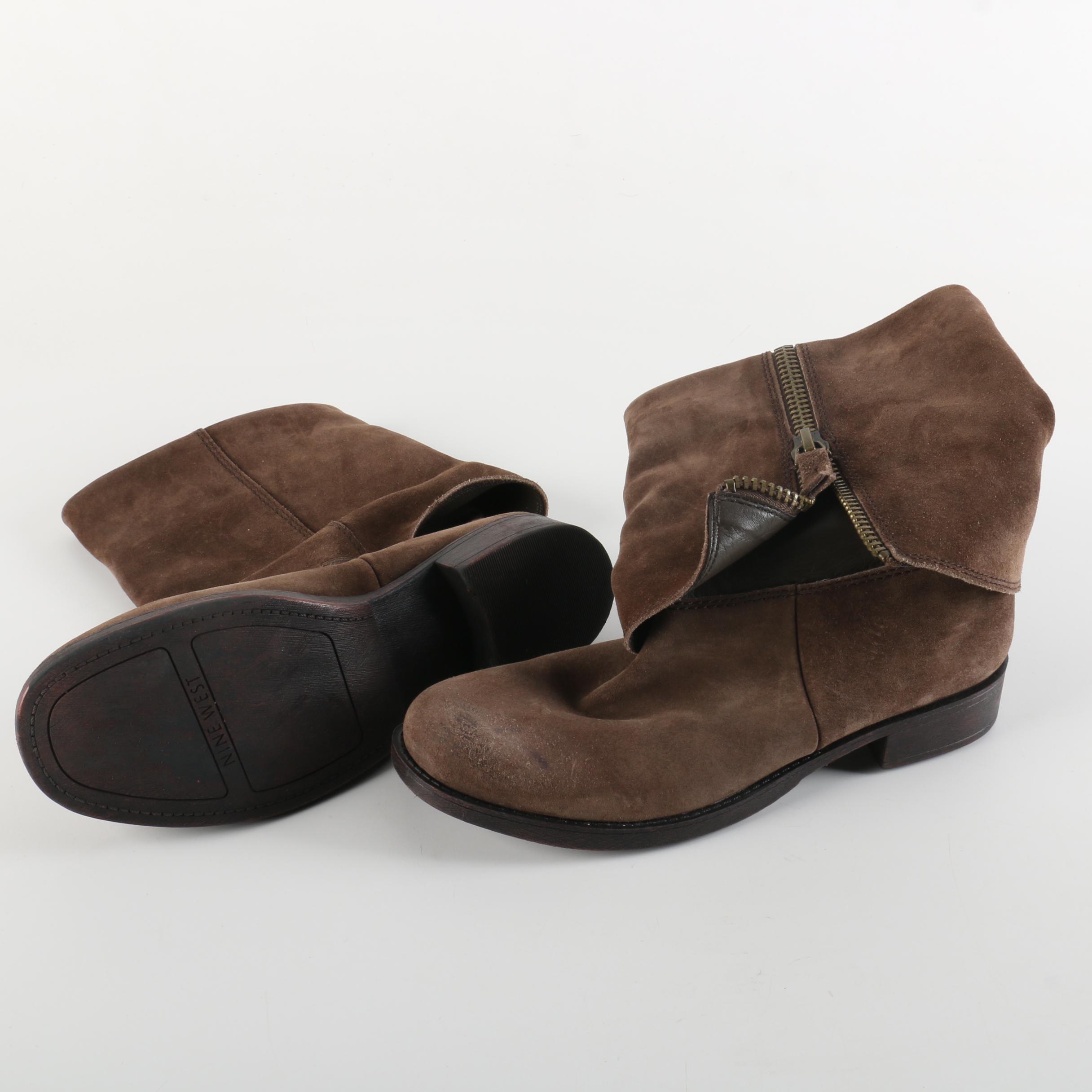 Nine West Brown Suede Boots