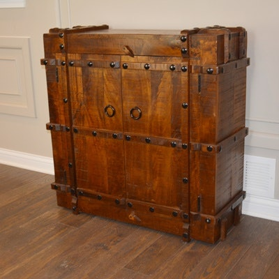 Wood Crate Designed Cabinet