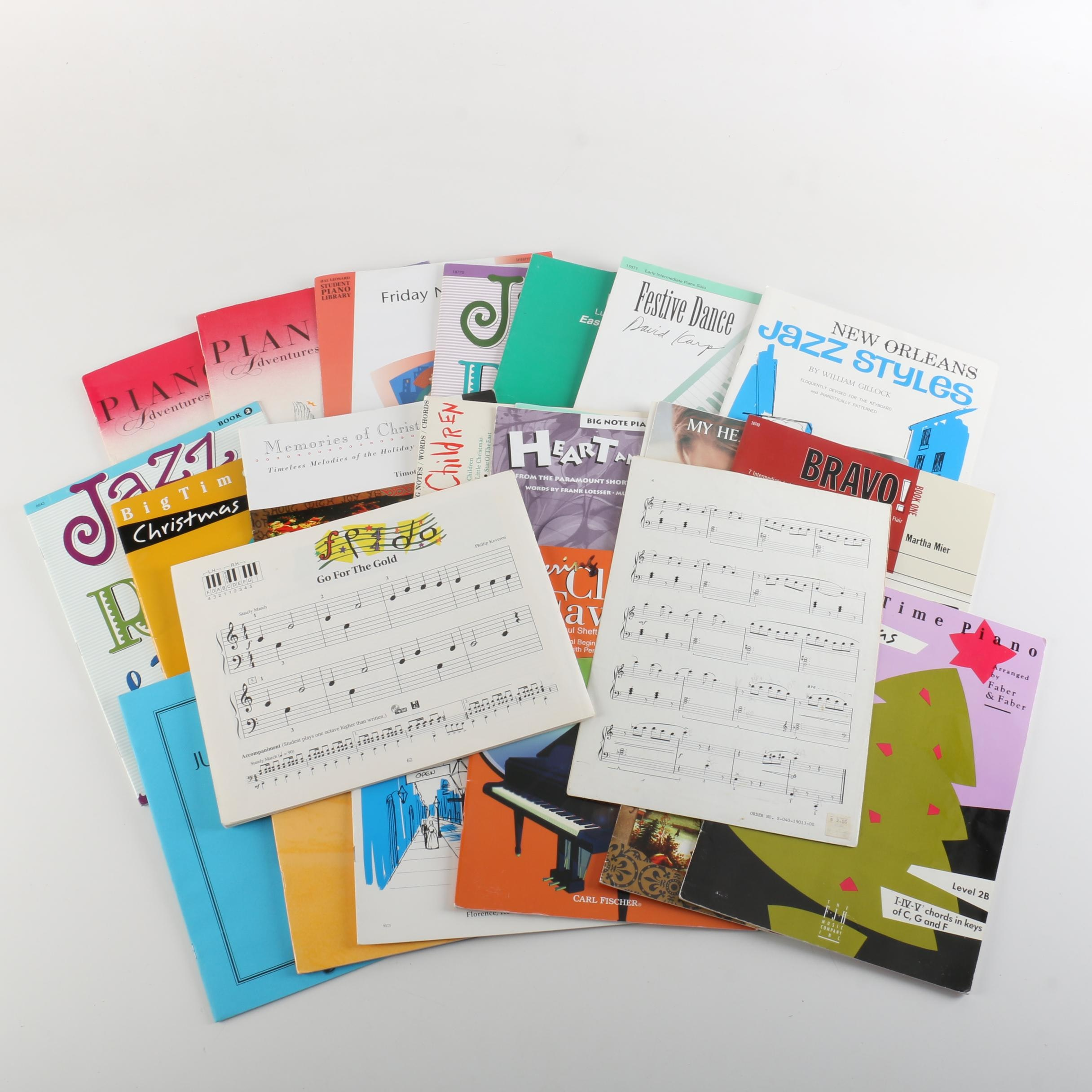 Piano Sheet Music and Theory Books