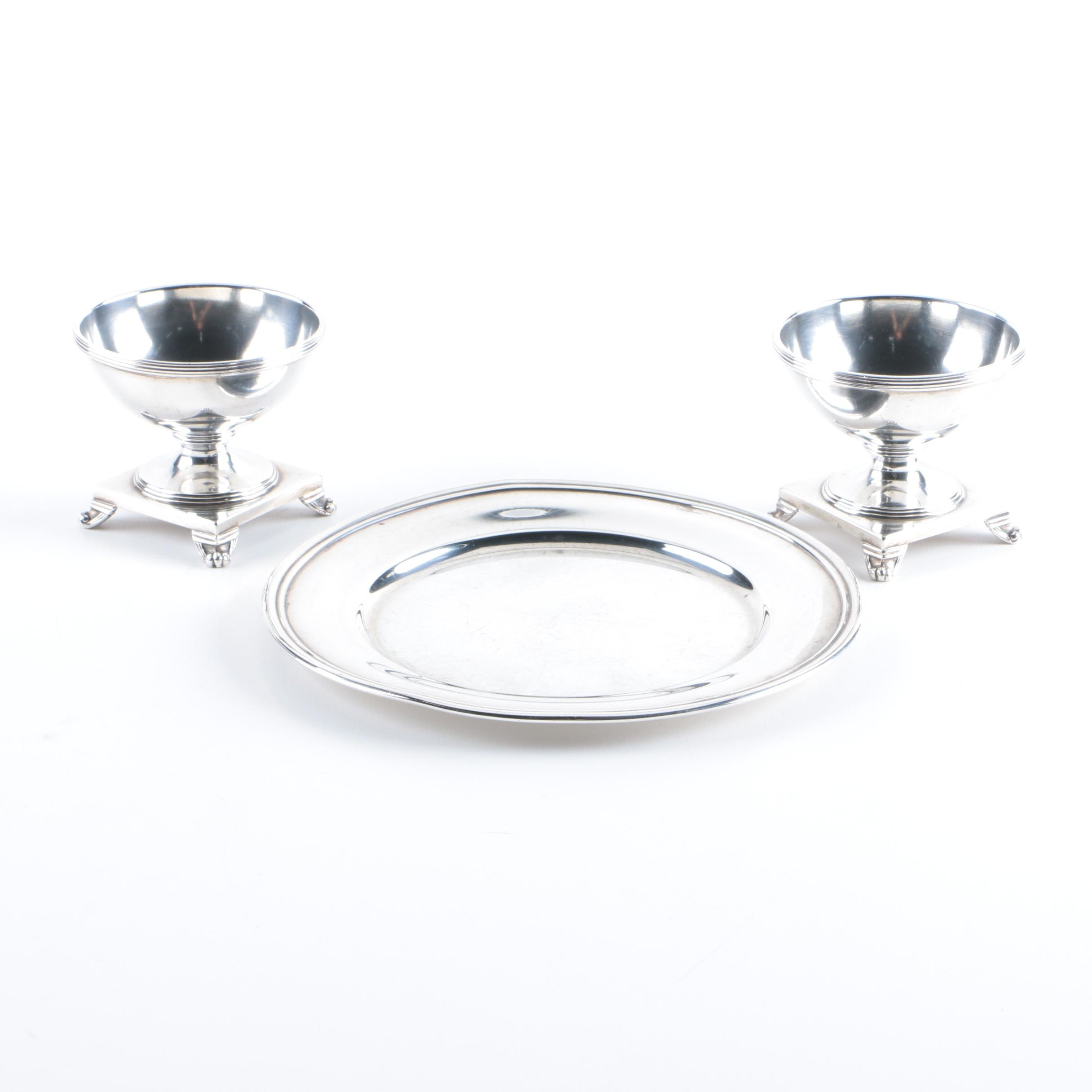 S. Kirk & Son Sterling Silver Footed Egg Cups and Dish