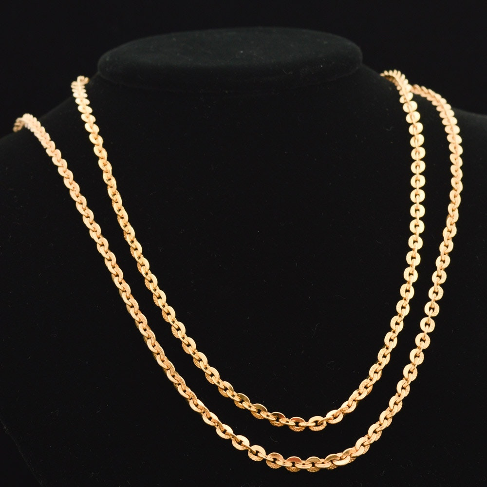 20K Yellow Gold Necklace Chains