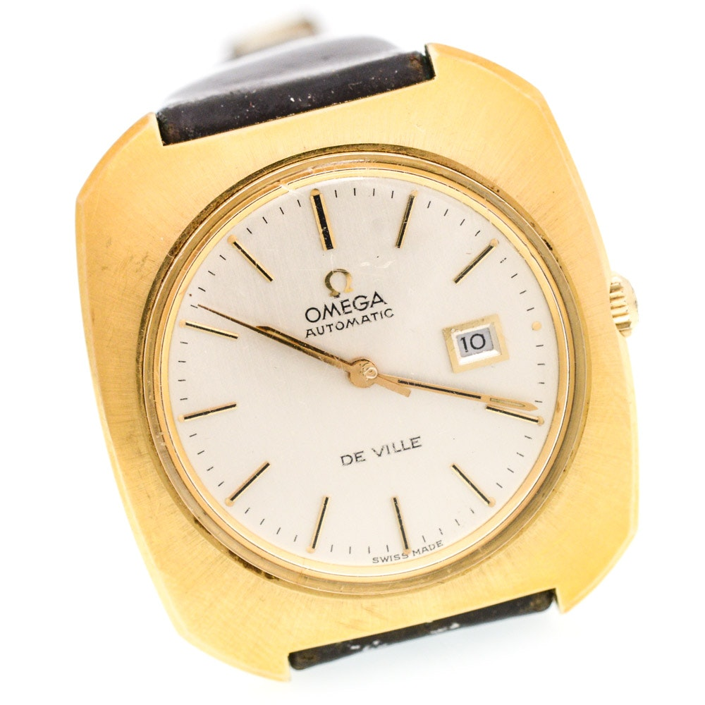 18K Yellow Gold Omega DeVille Automatic Wristwatch