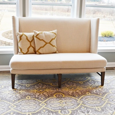 Upholstered Banquette Bench Settee