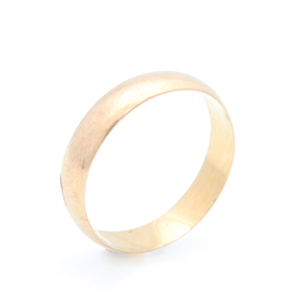 22K Yellow Gold Wedding Band